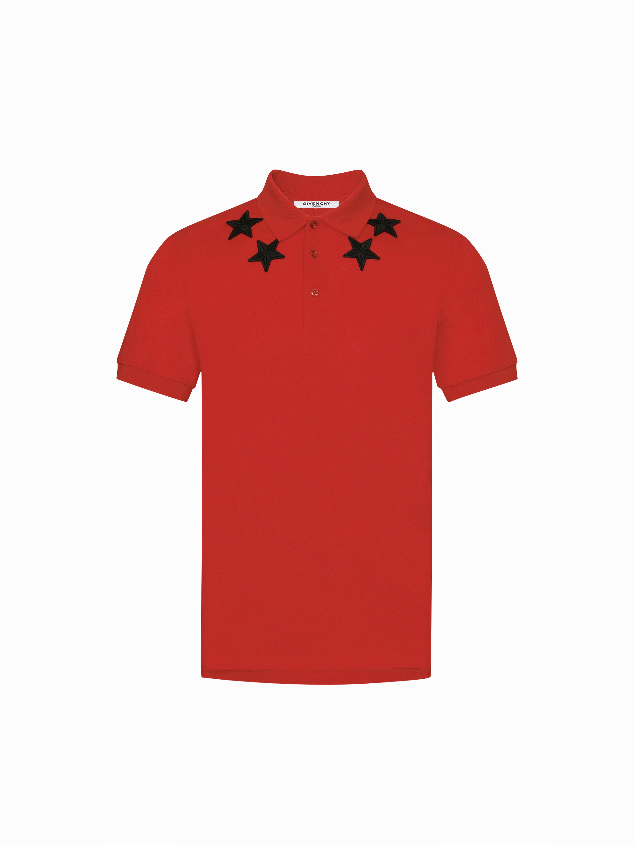 Star patches around the neck polo
