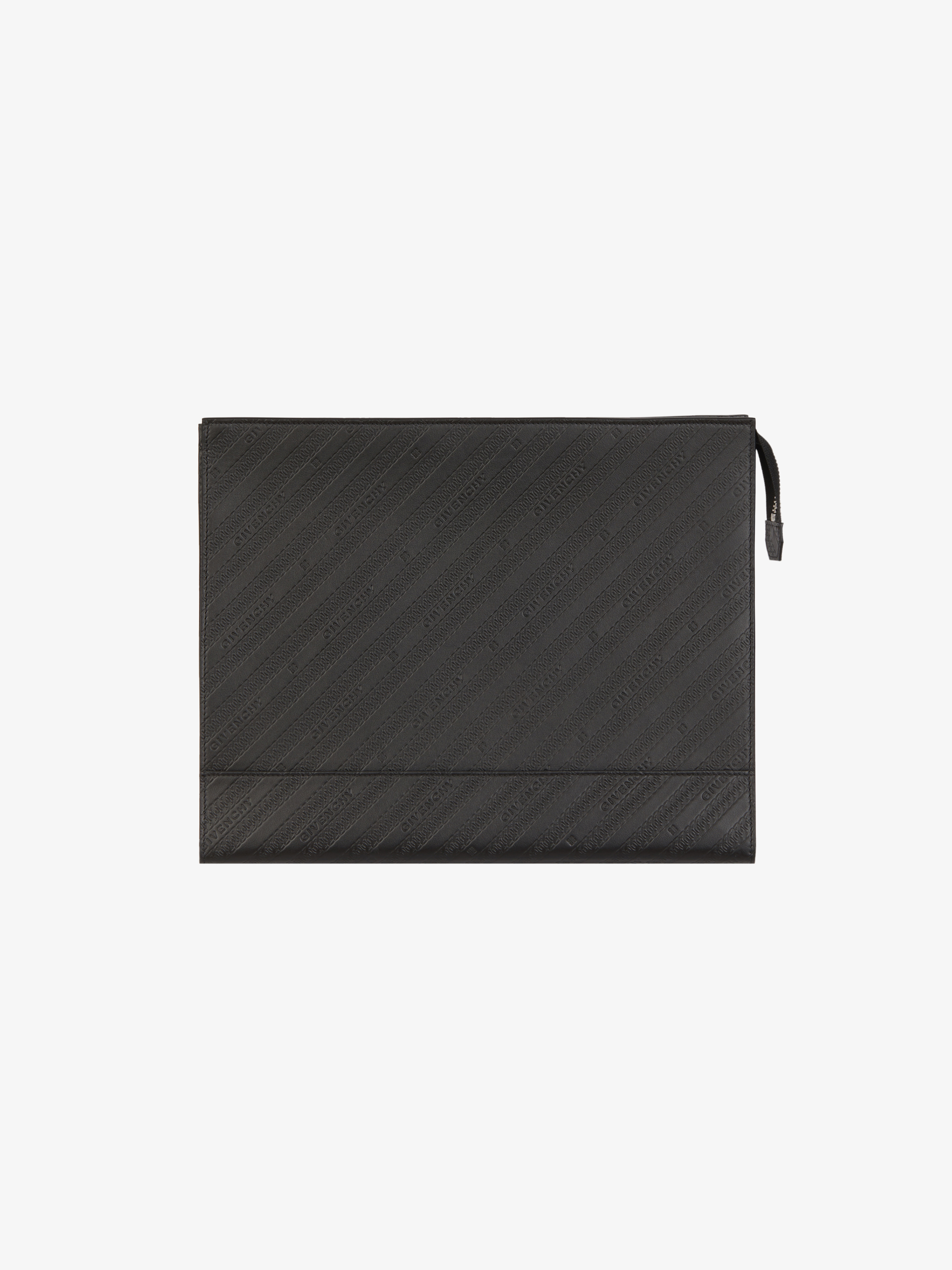 GIVENCHY large pouch with accordion pleat in leather