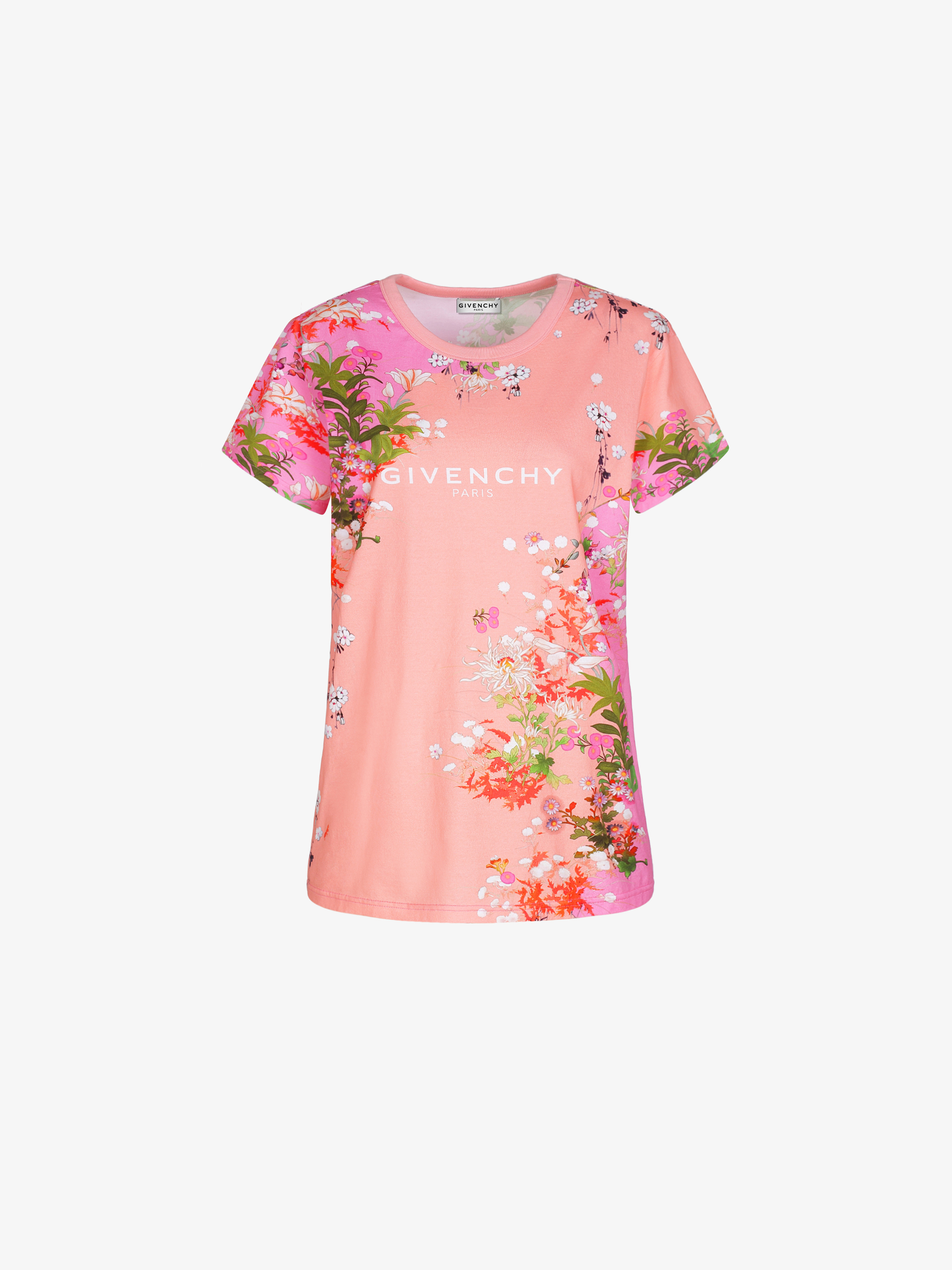 GIVENCHY PARIS floral printed slim fit t-shirt