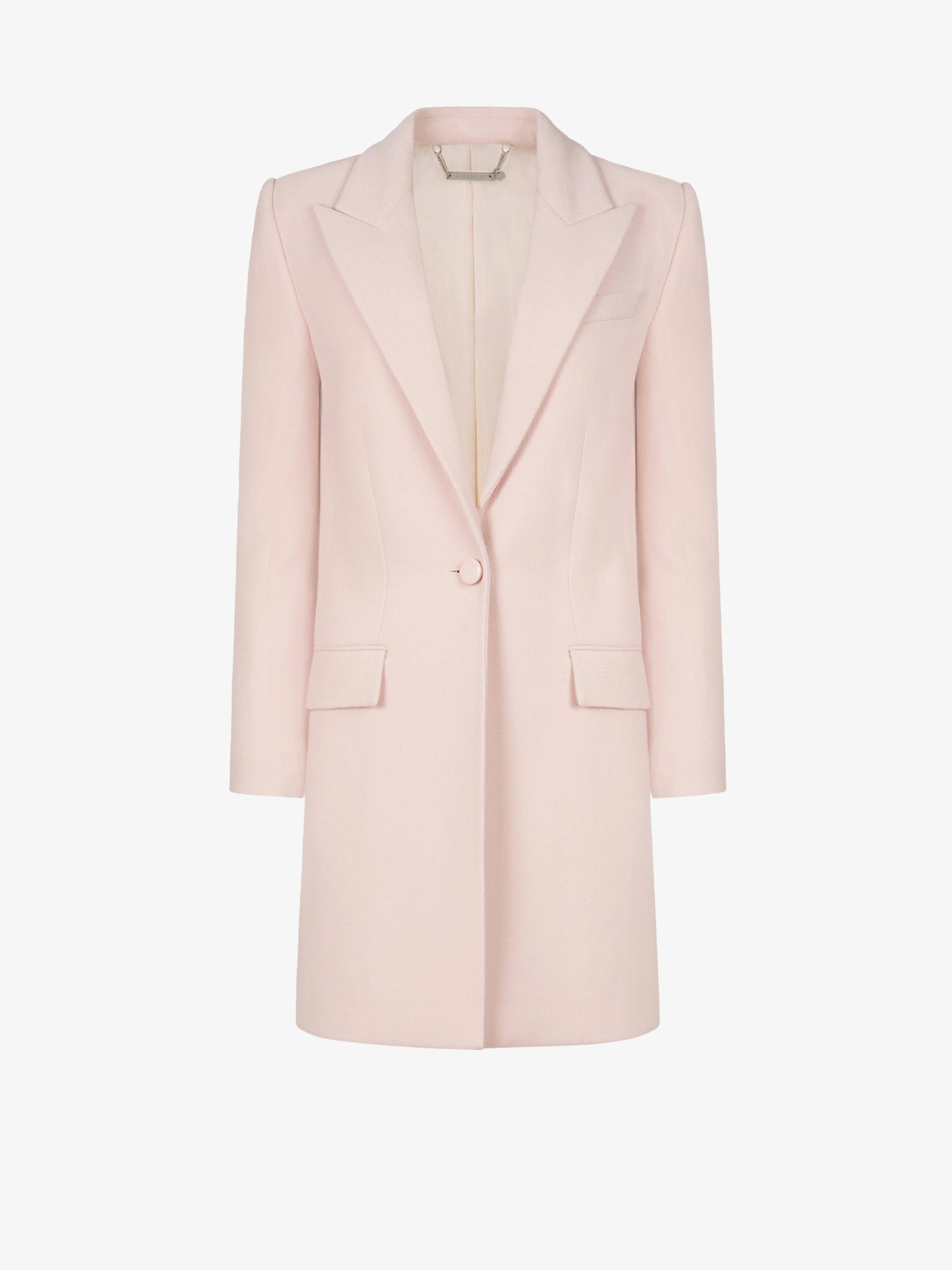 Mid-length coat in wool