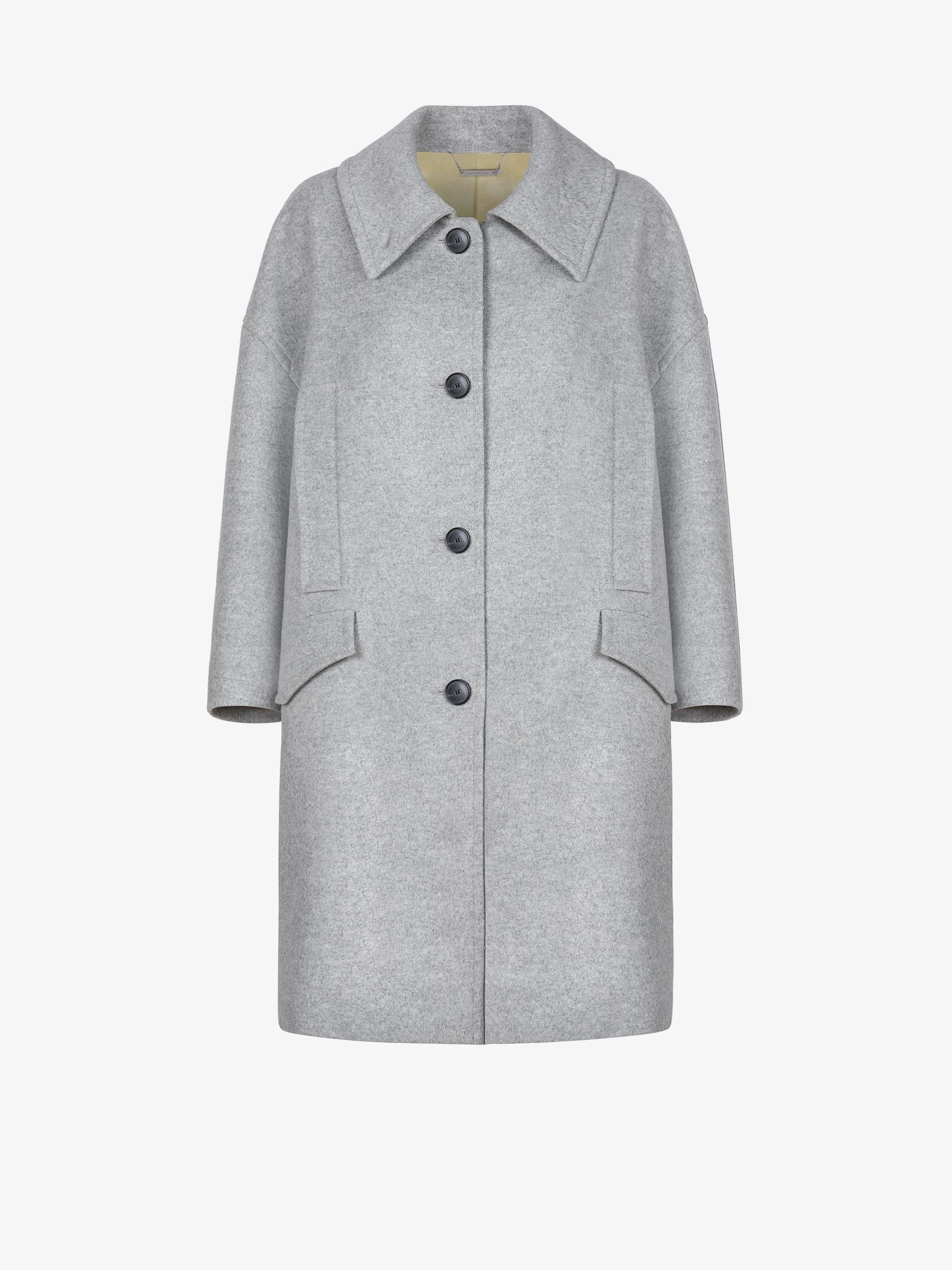 Manteau oversized en laine et cachemire