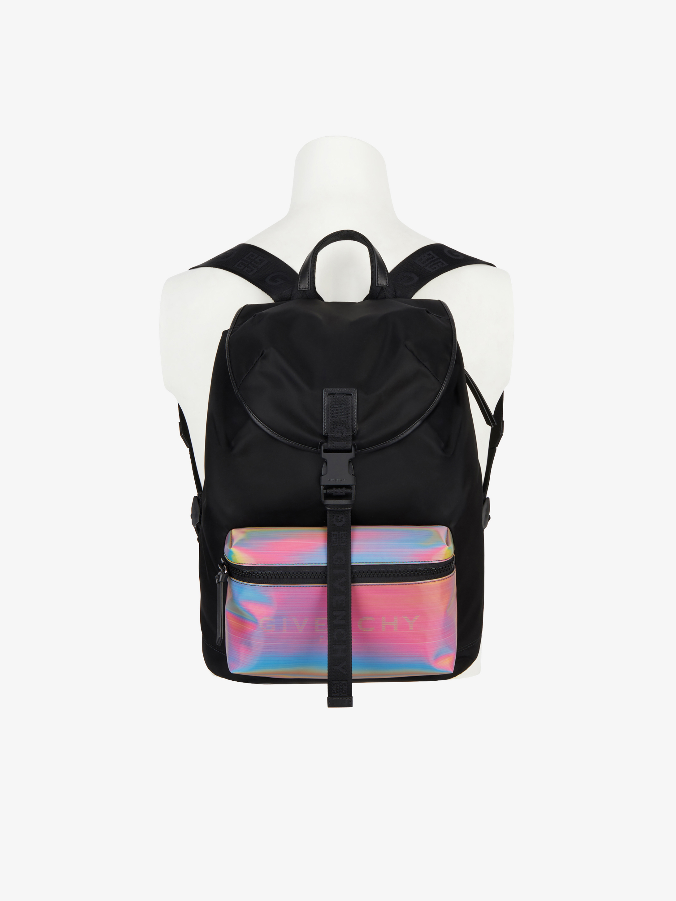 GIVENCHY backpack in nylon with holographic