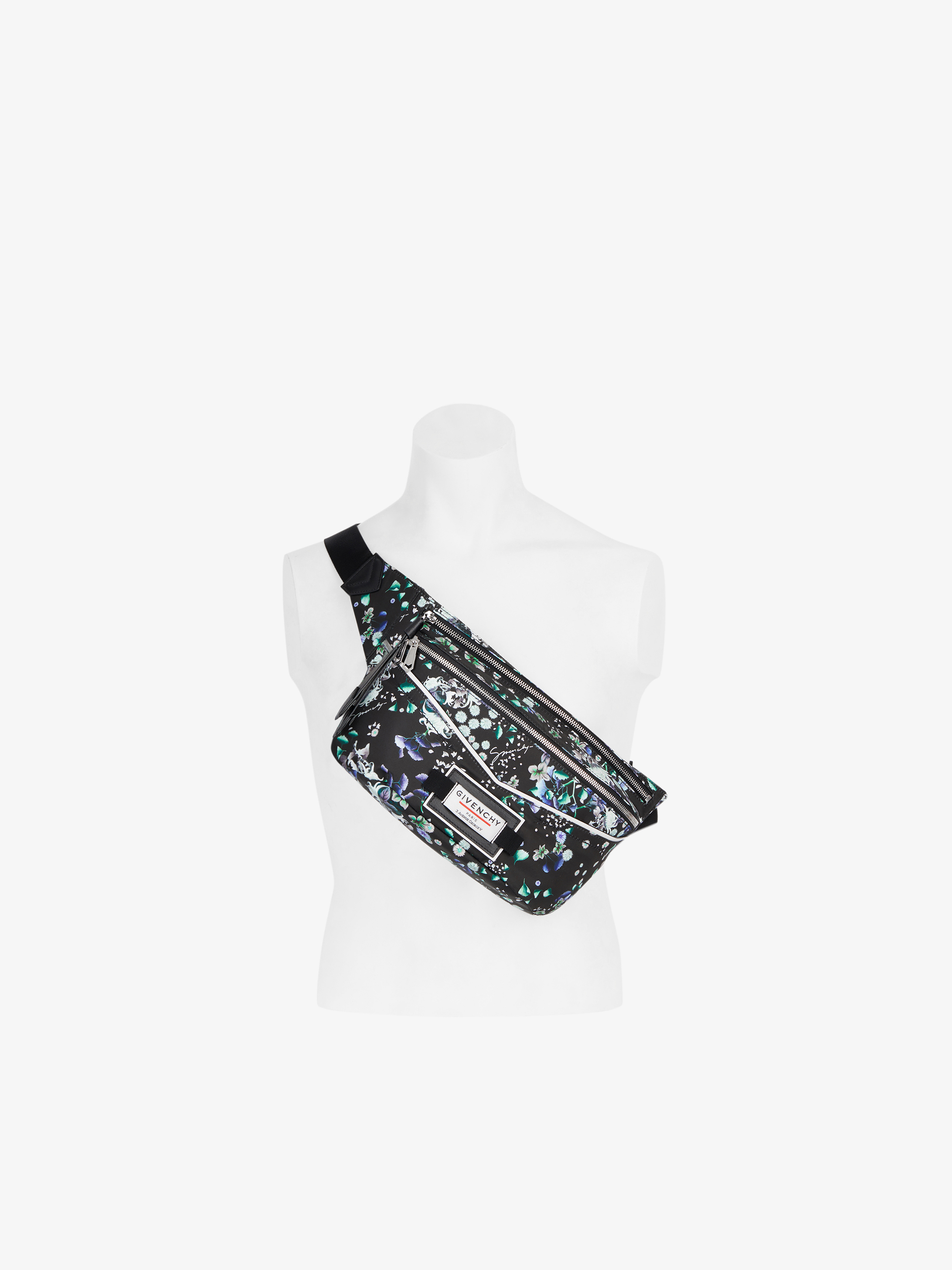 GIVENCHY Downtown floral printed bum bag