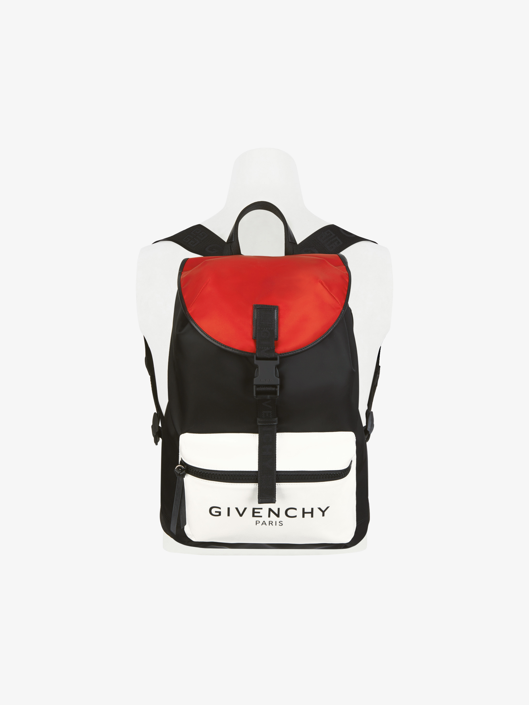 GIVENCHY PARIS tricolor backpack in nylon