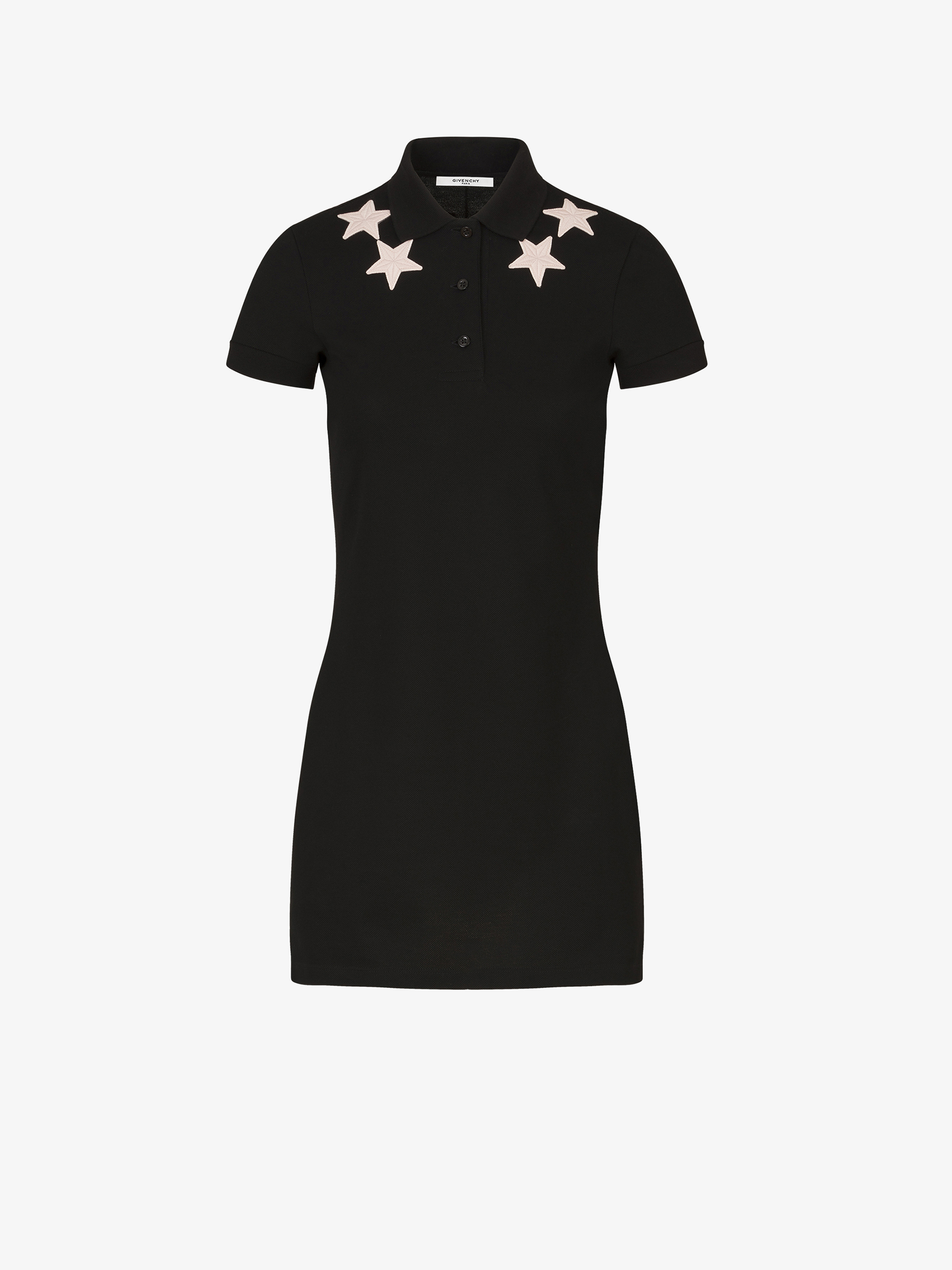 Stars embroidered polo dress