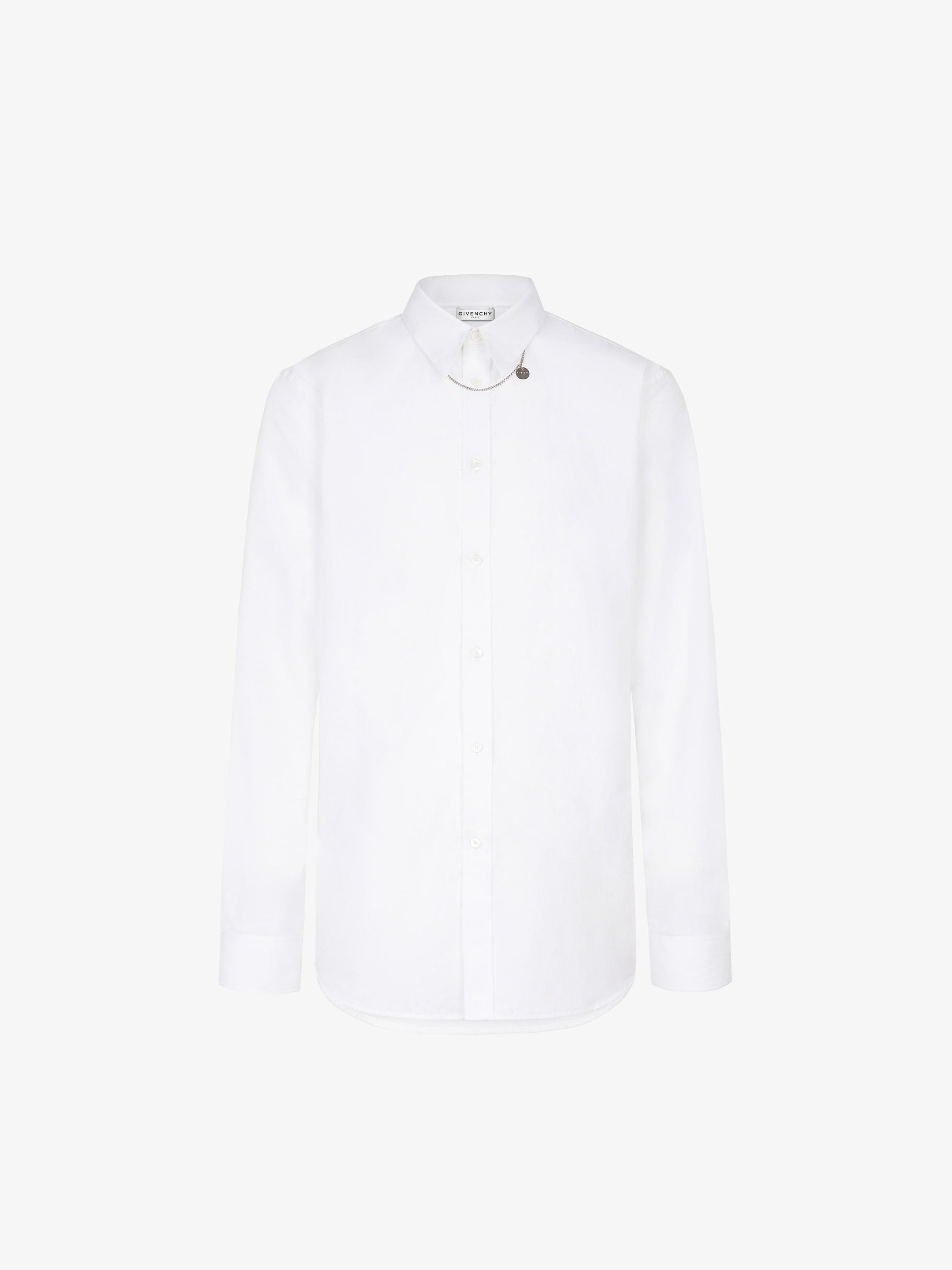 Chemise en coton à col chaîne