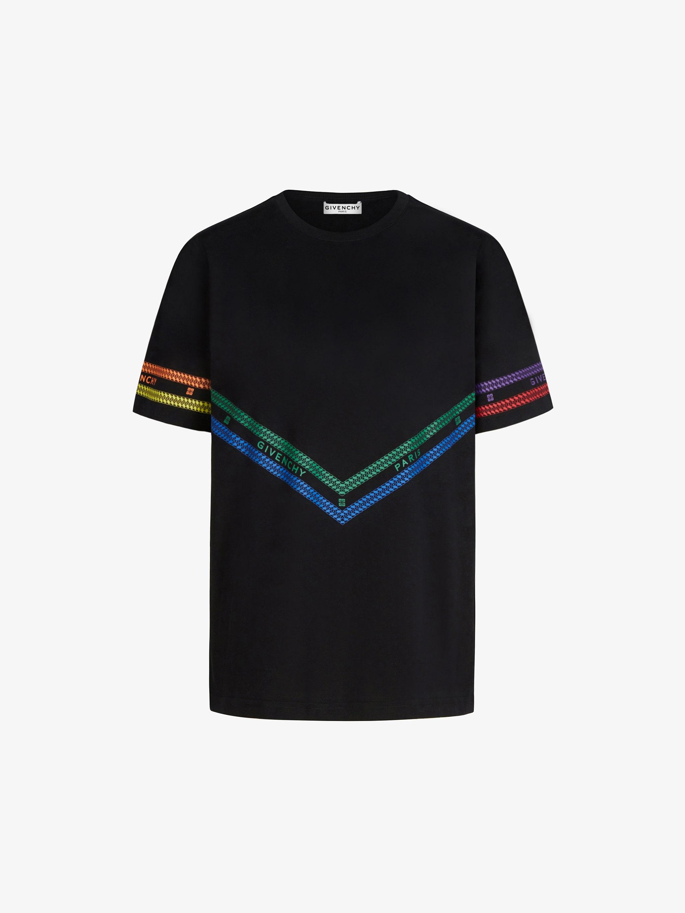 T-shirt imprimé GIVENCHY Chaîne multicolore