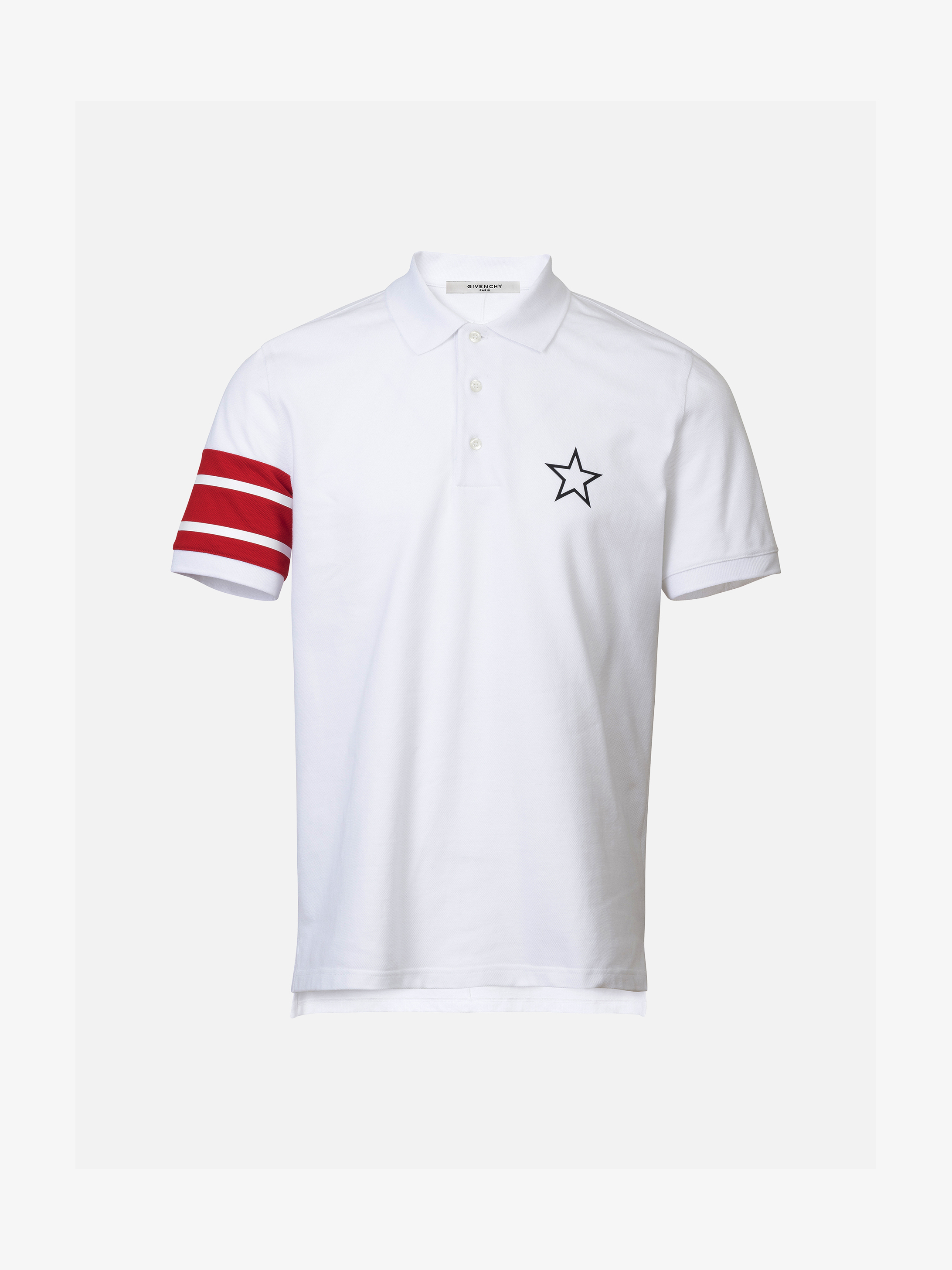 Printed polo shirt in cotton