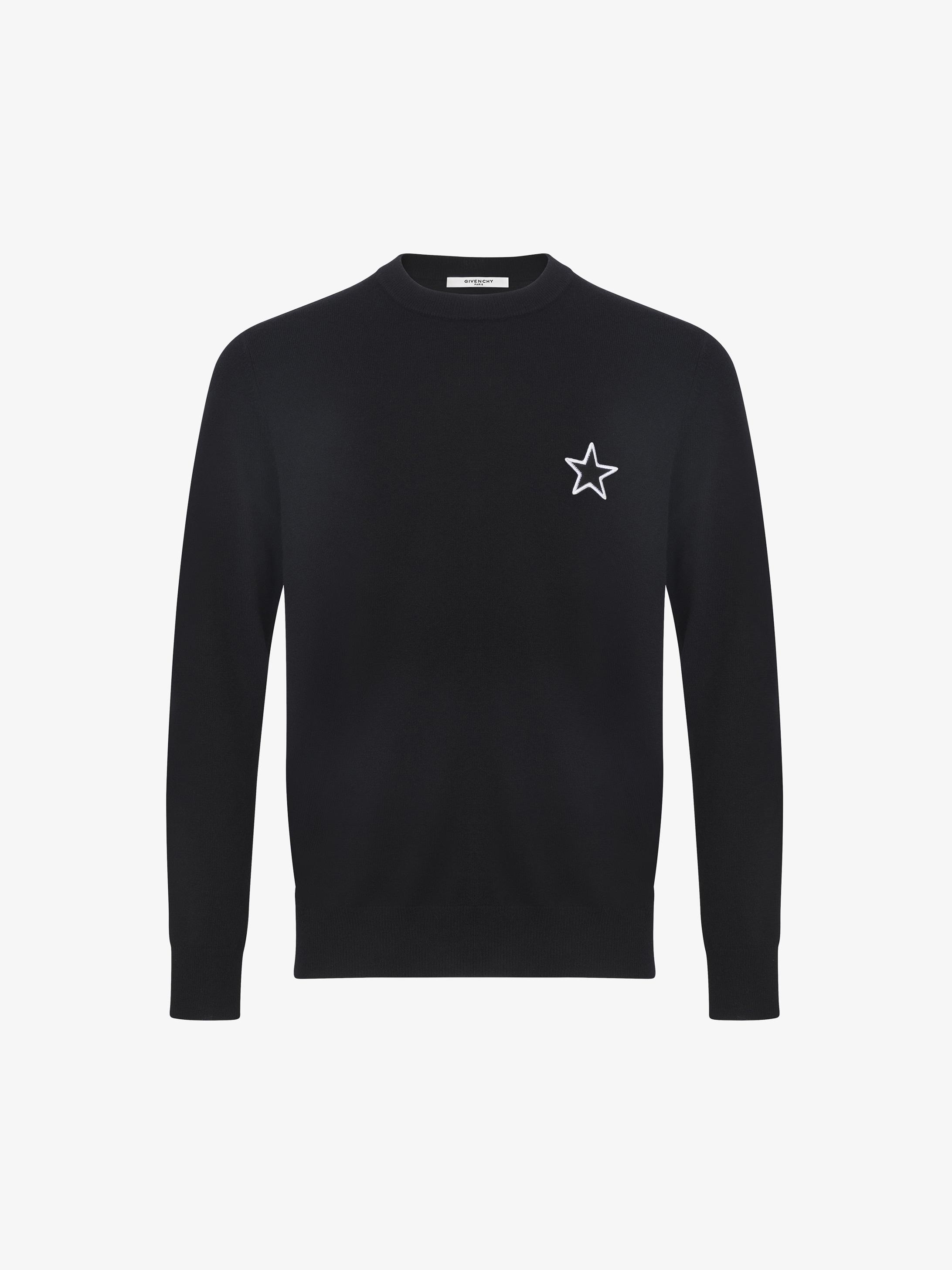 Star patch jumper in cashmere