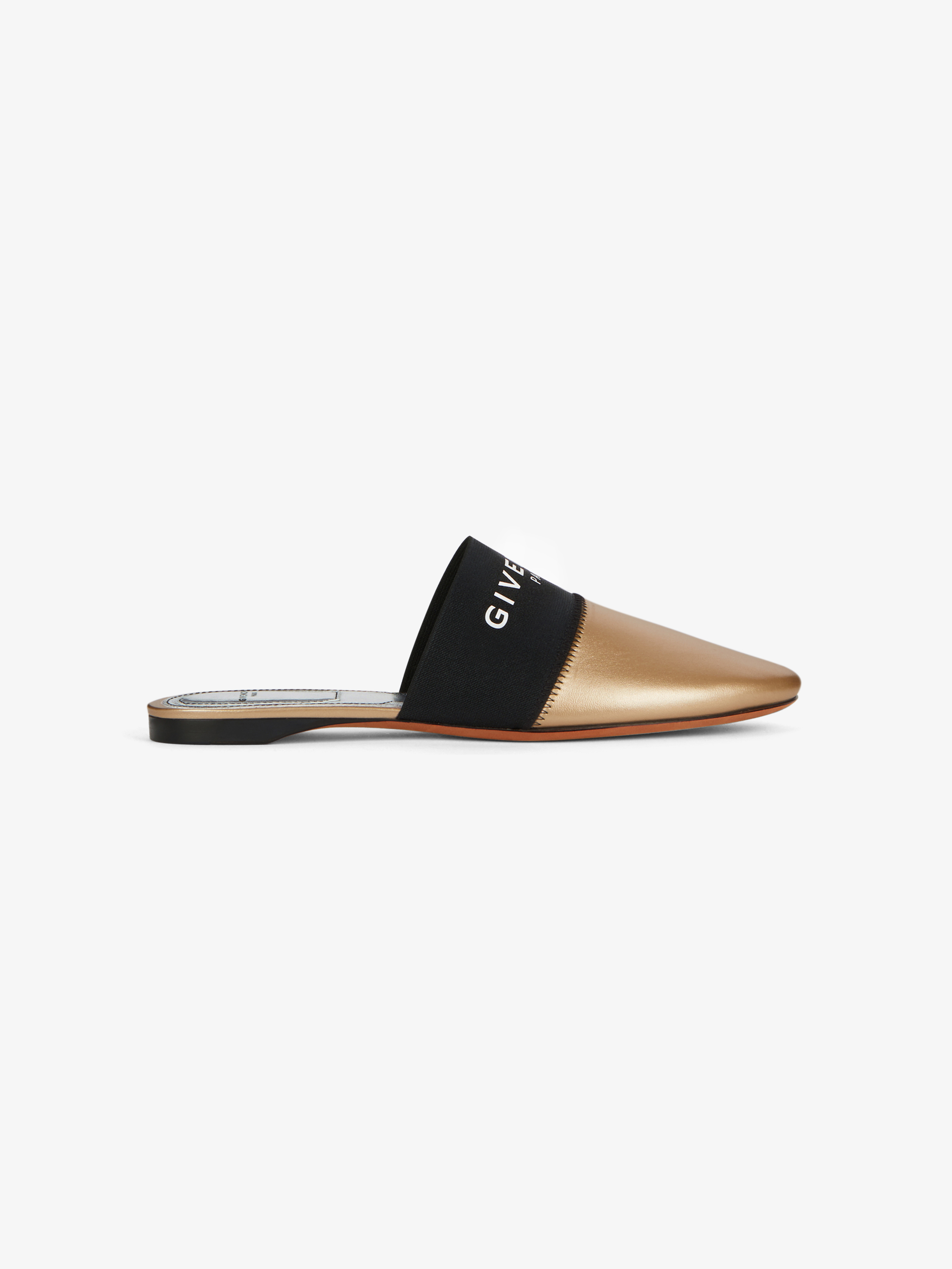 GIVENCHY PARIS flat mules in beaded leather