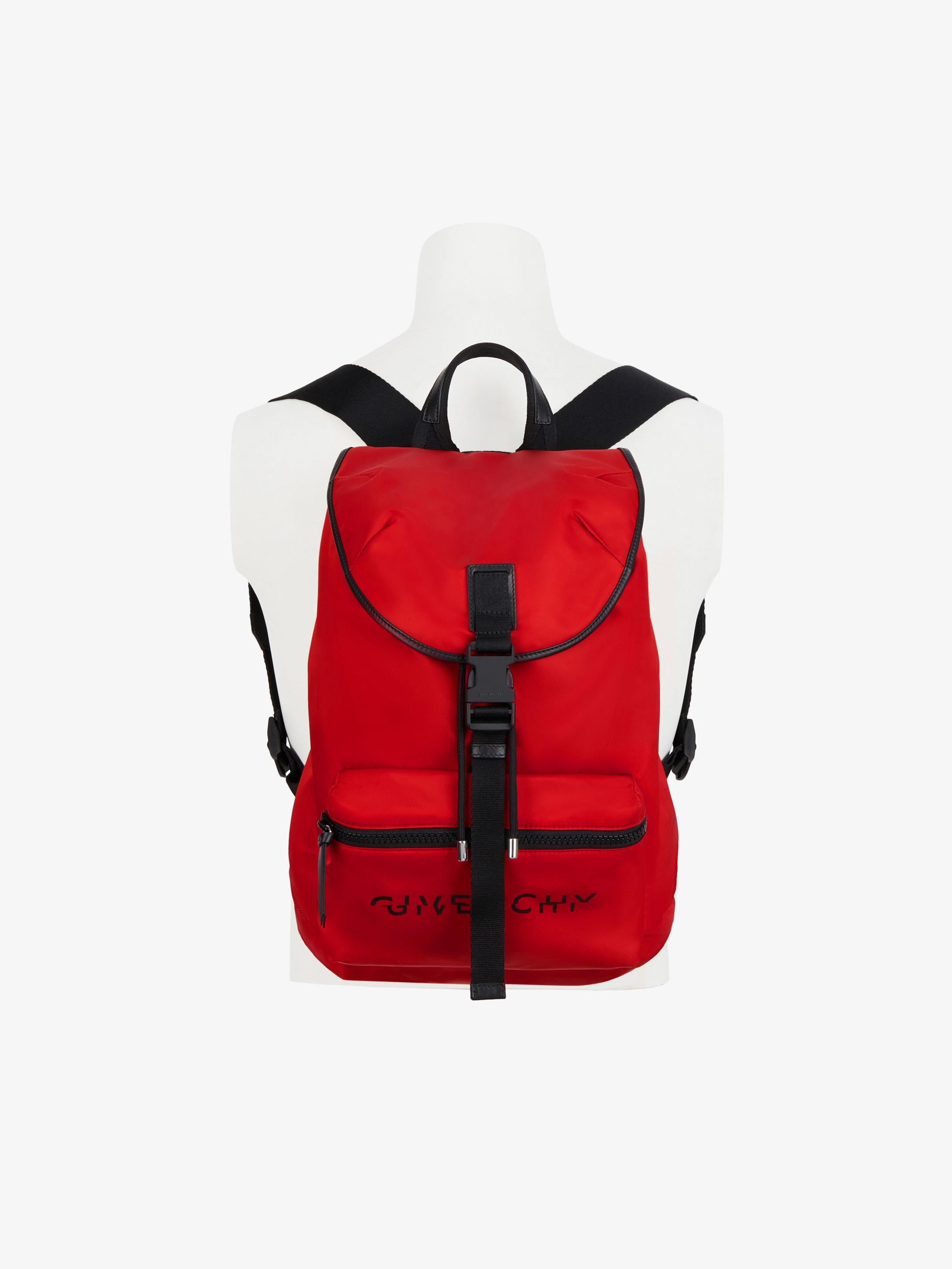 GIVENCHY Split packaway backpack in nylon