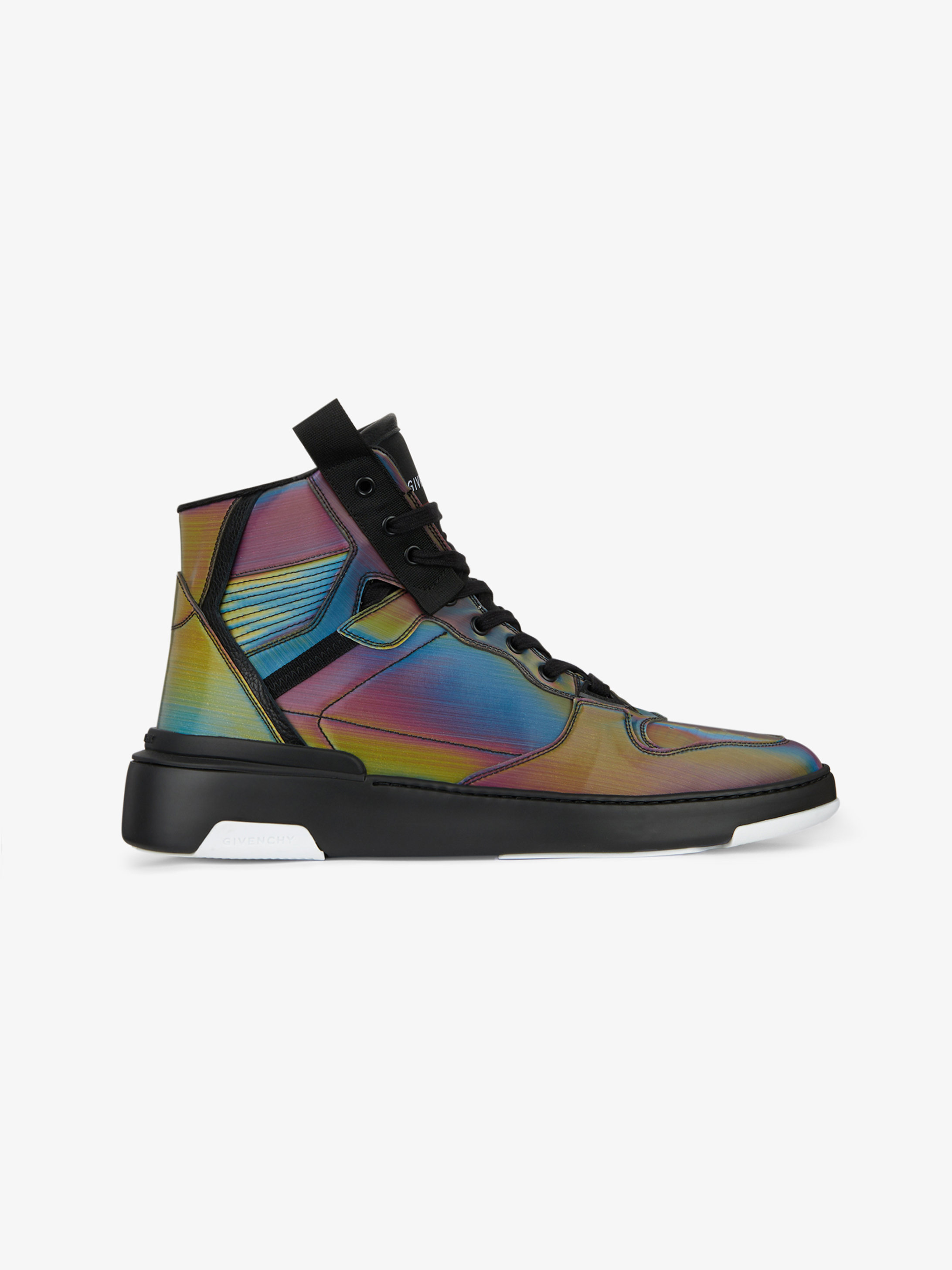 WING high sneakers in holographic canvas