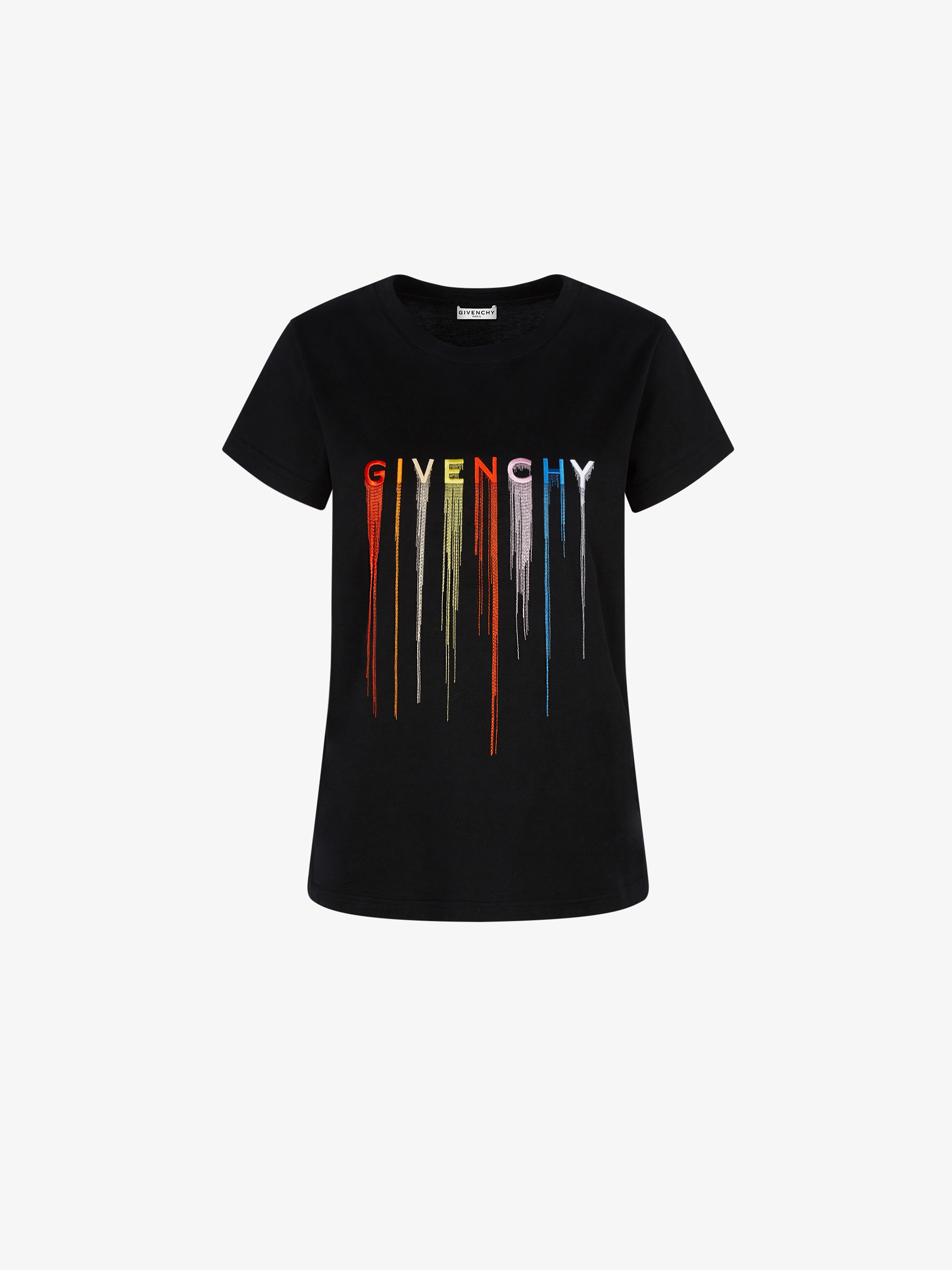 GIVENCHY multicolored embroidered slim fit t-shirt