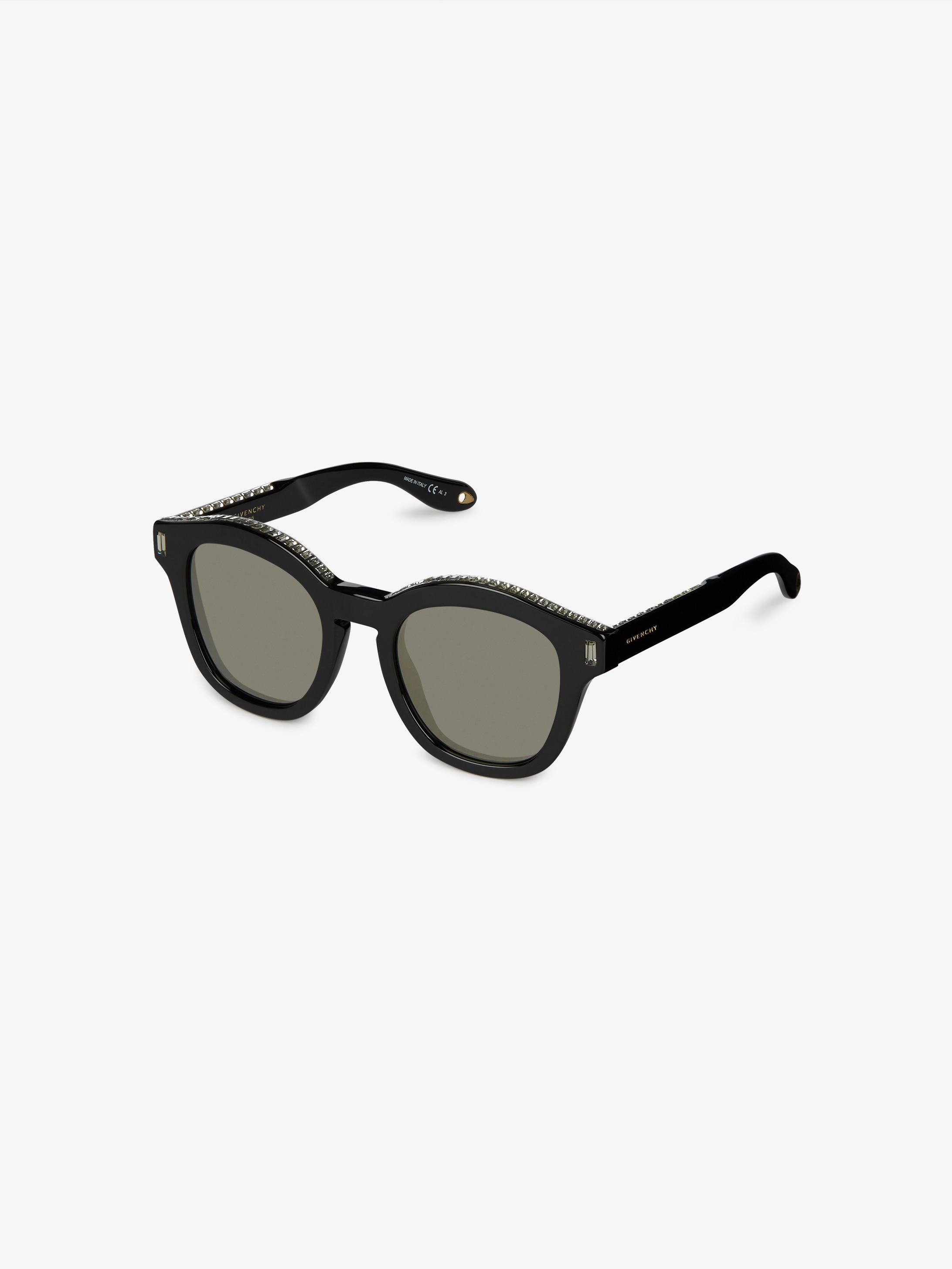 Acetate sunglasses with Swarovski Strass