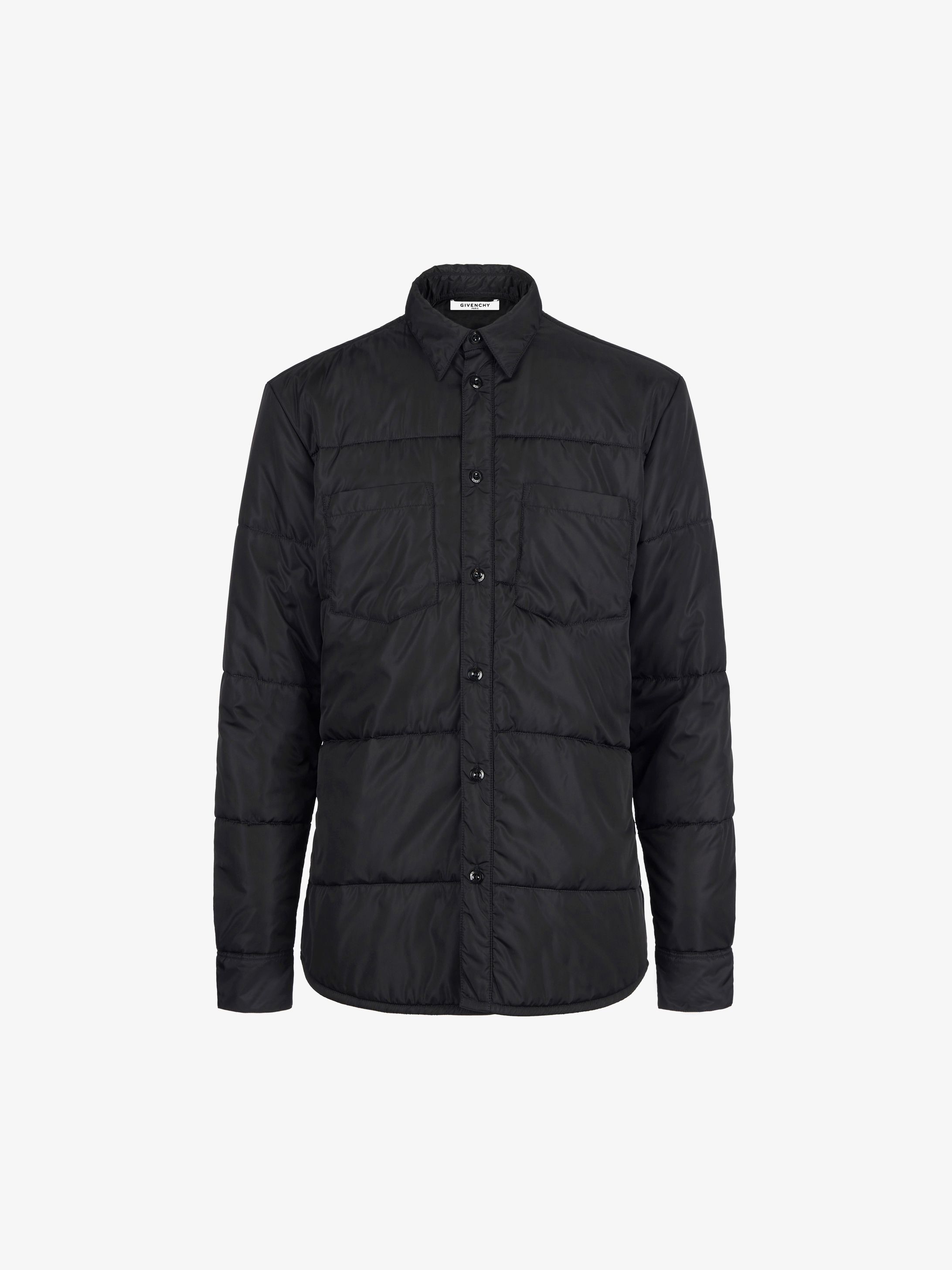 Quilted shirt in nylon