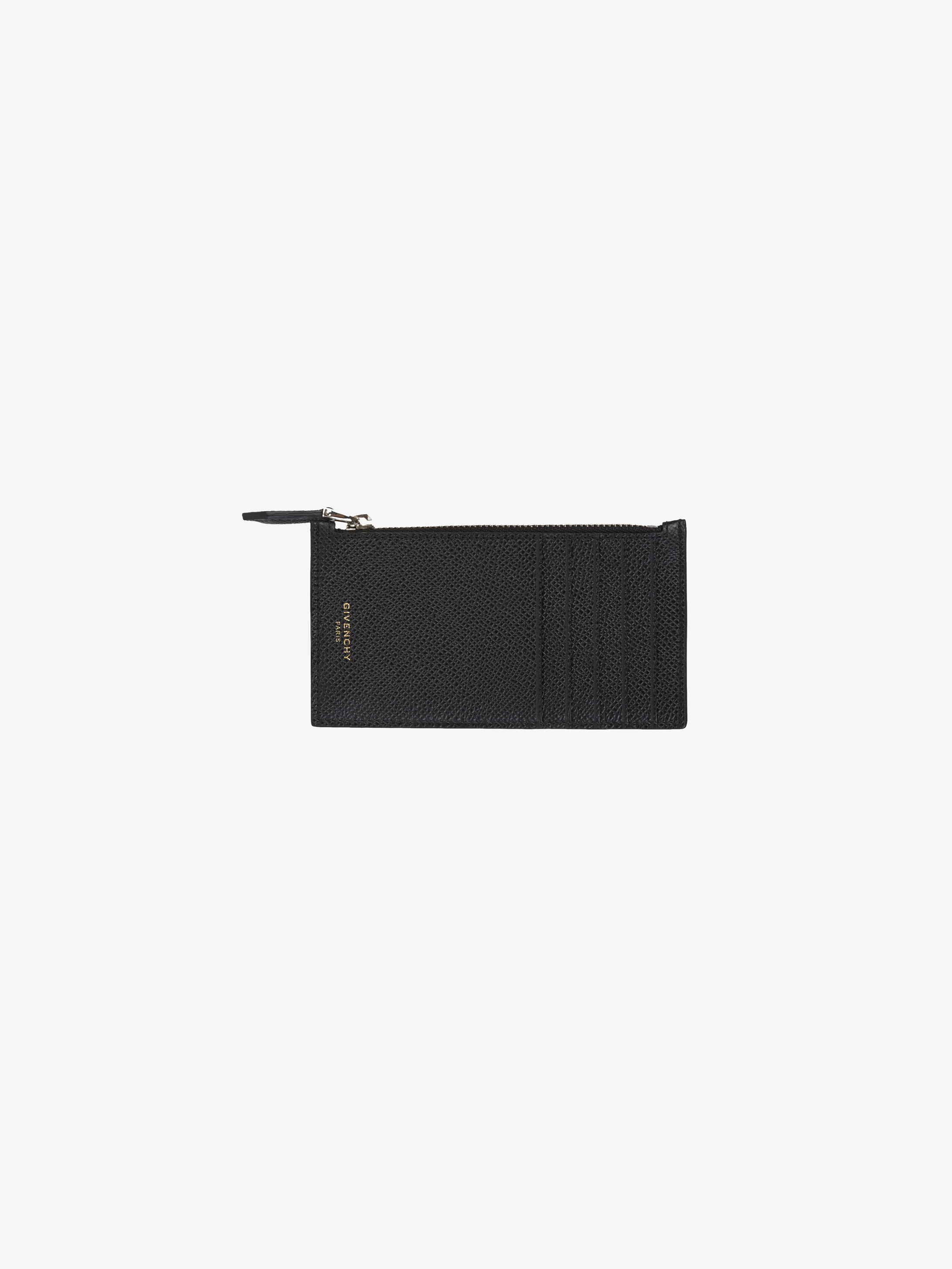 Eros zipped card holder in leather