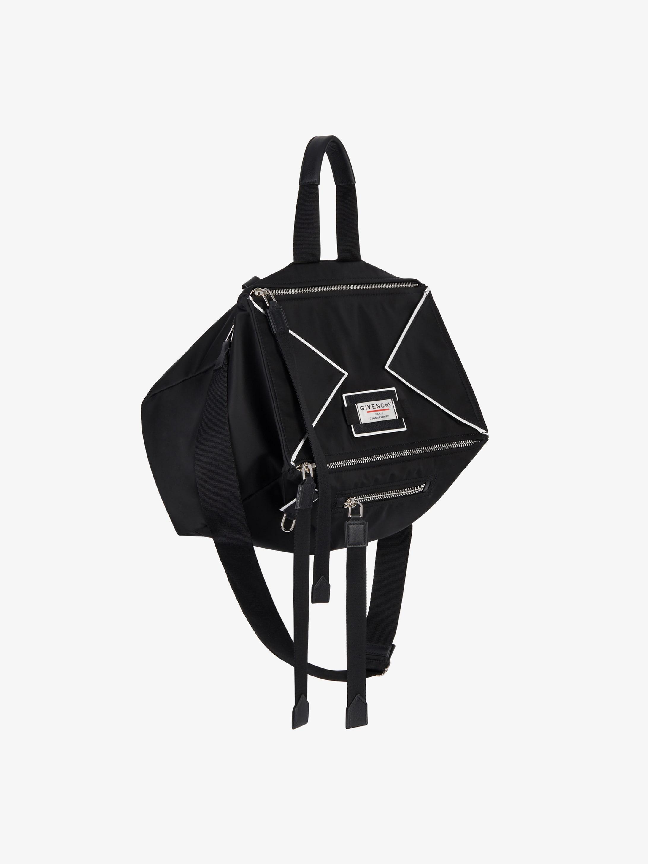 GIVENCHY Label Pandora messenger bag in nylon