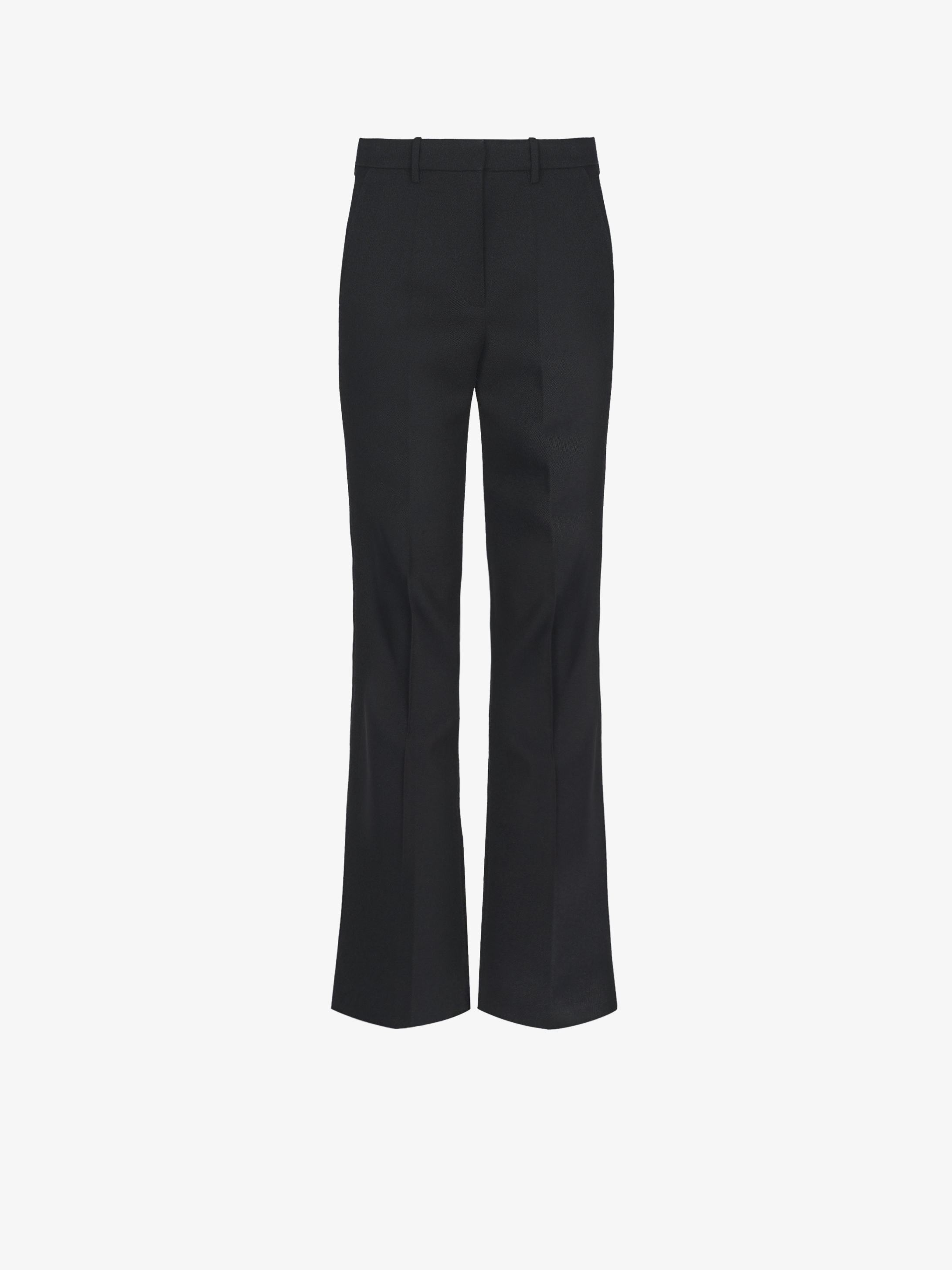 Flared pants in wool