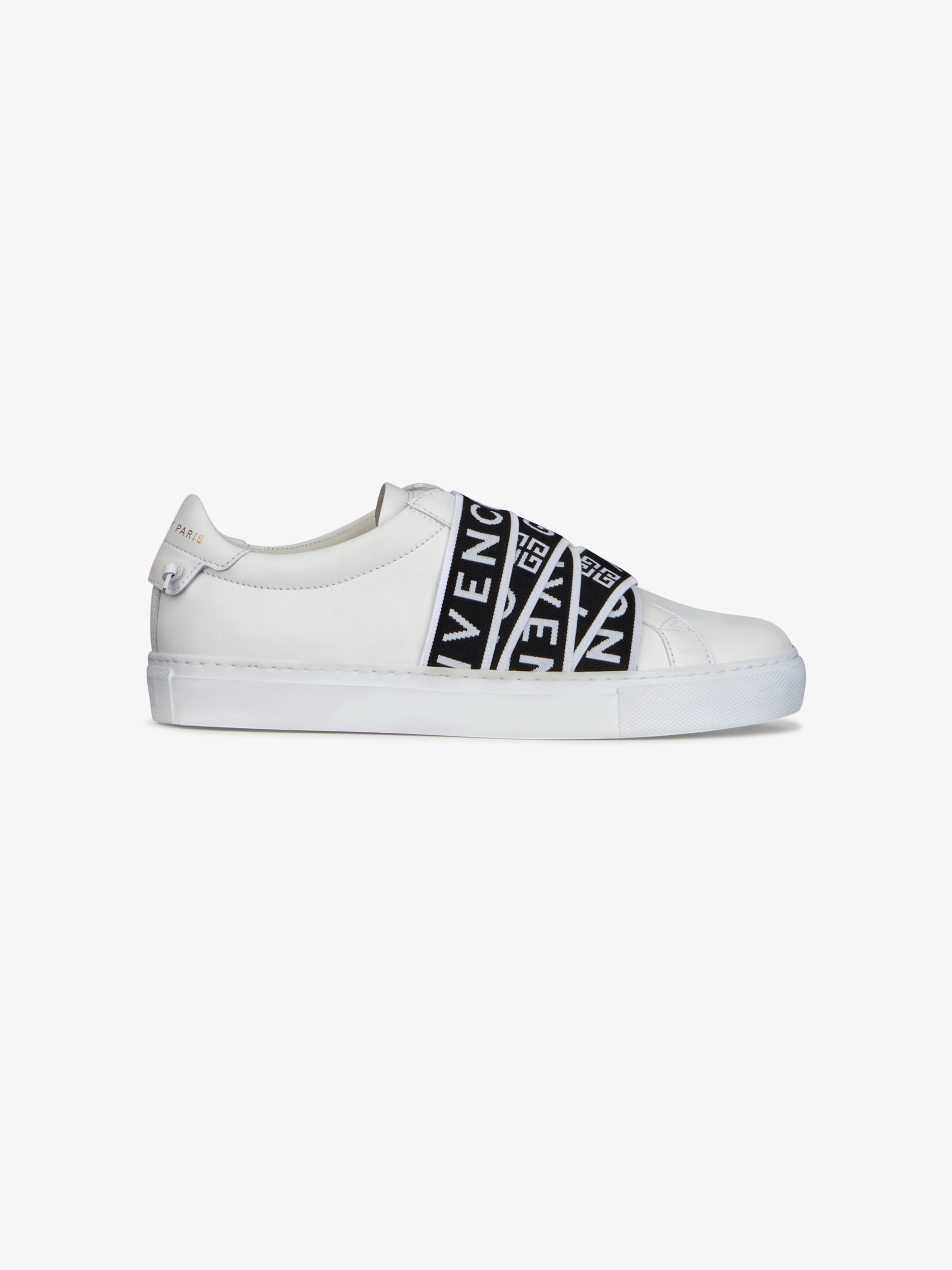 GIVENCHY 4G webbing sneakers in leather