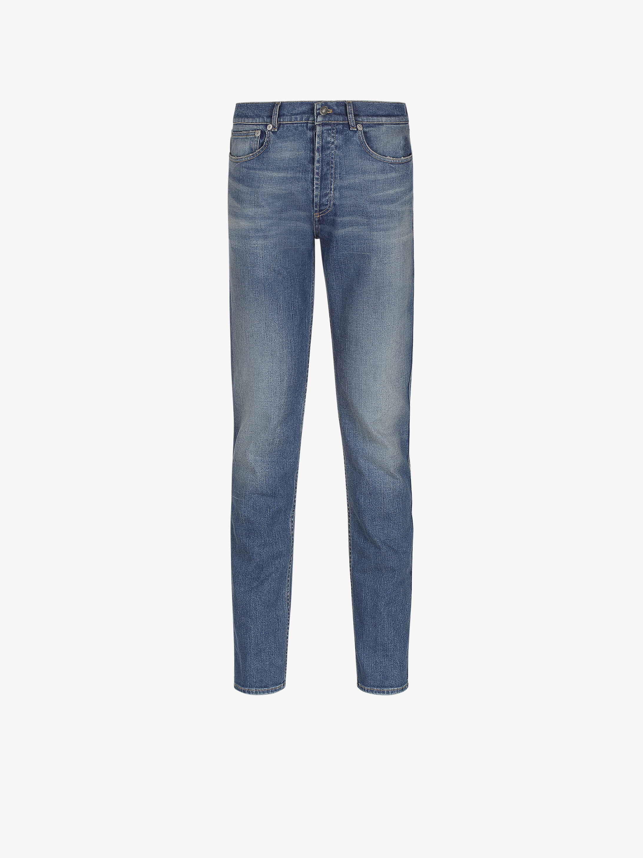 GIVENCHY PARIS slim fit jeans with stamp