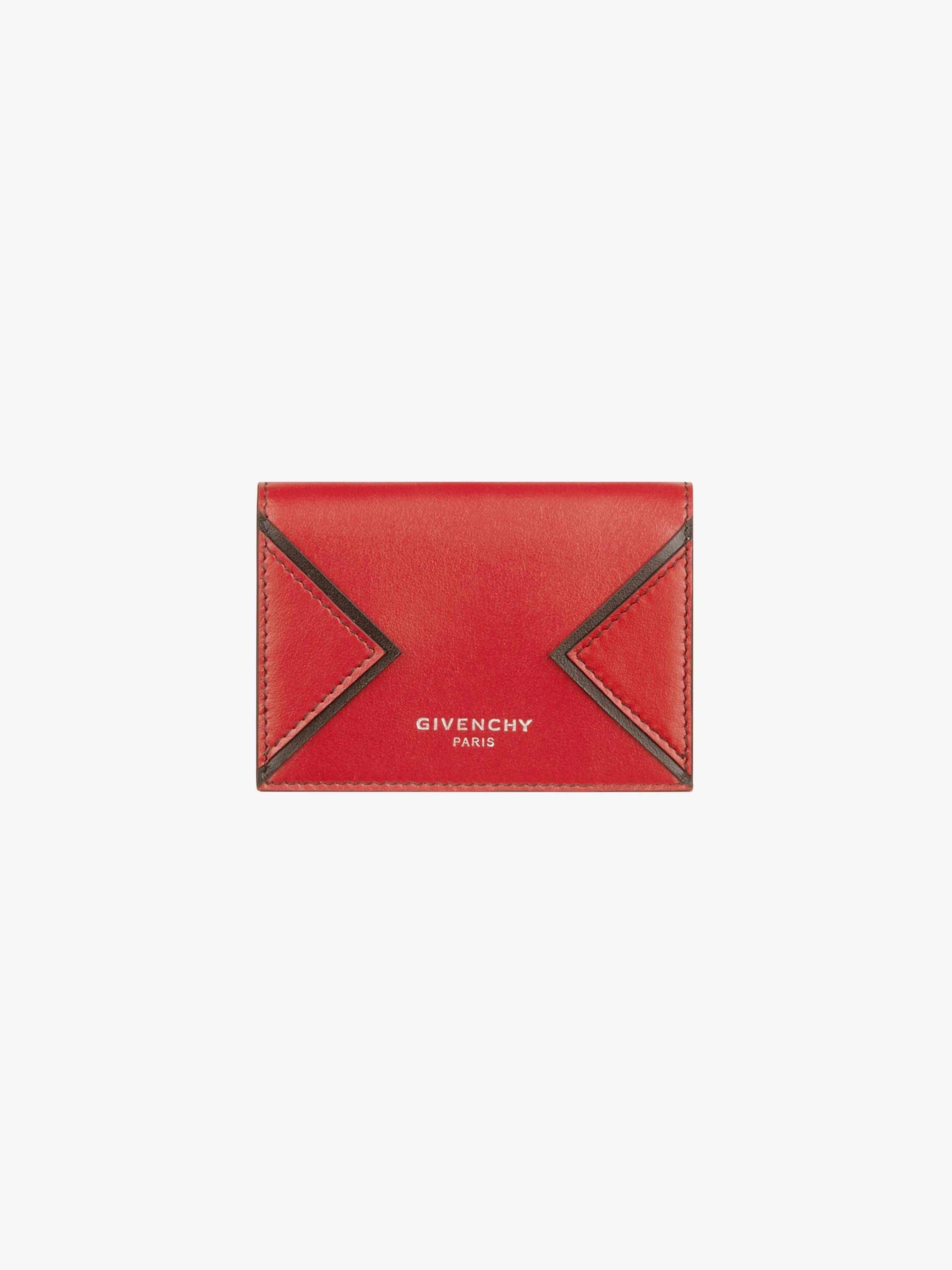 Portefeuille compact en cuir à découpe en V