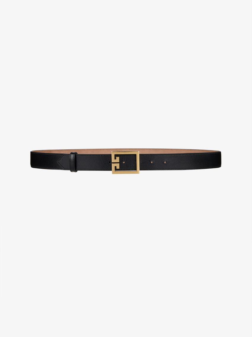 Double G belt in leather