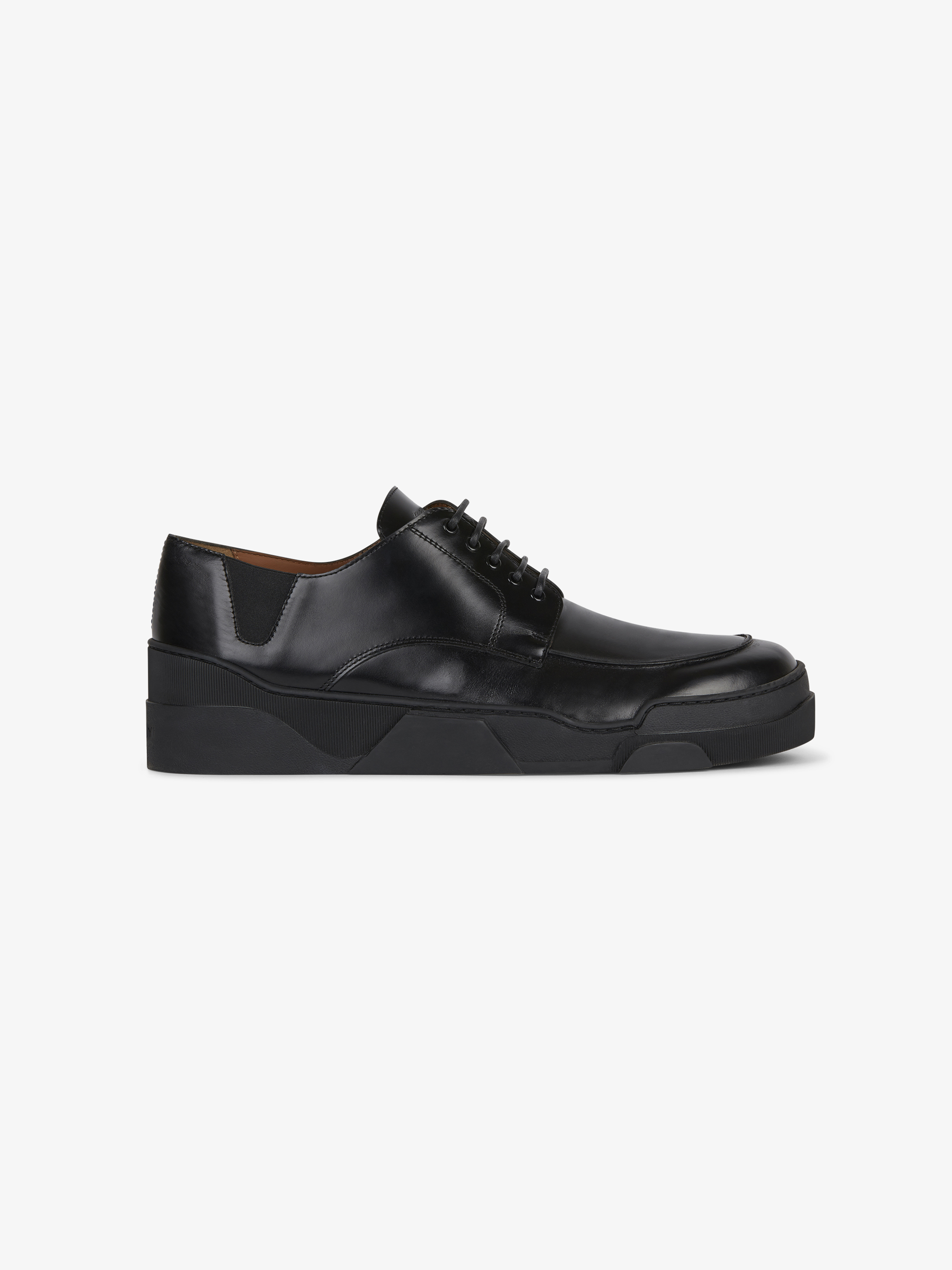Sport sole derby shoes in leather