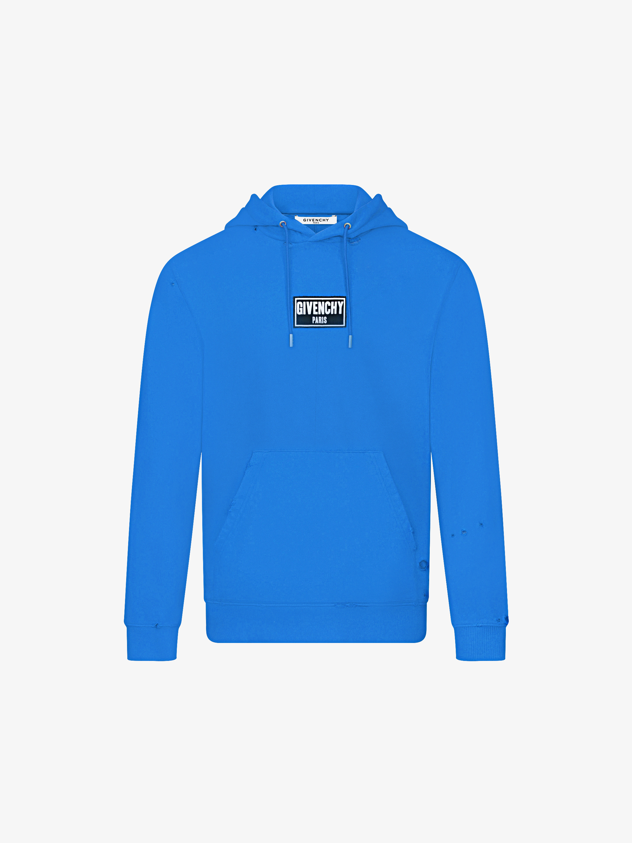 GIVENCHY PARIS patch destroyed hoodie