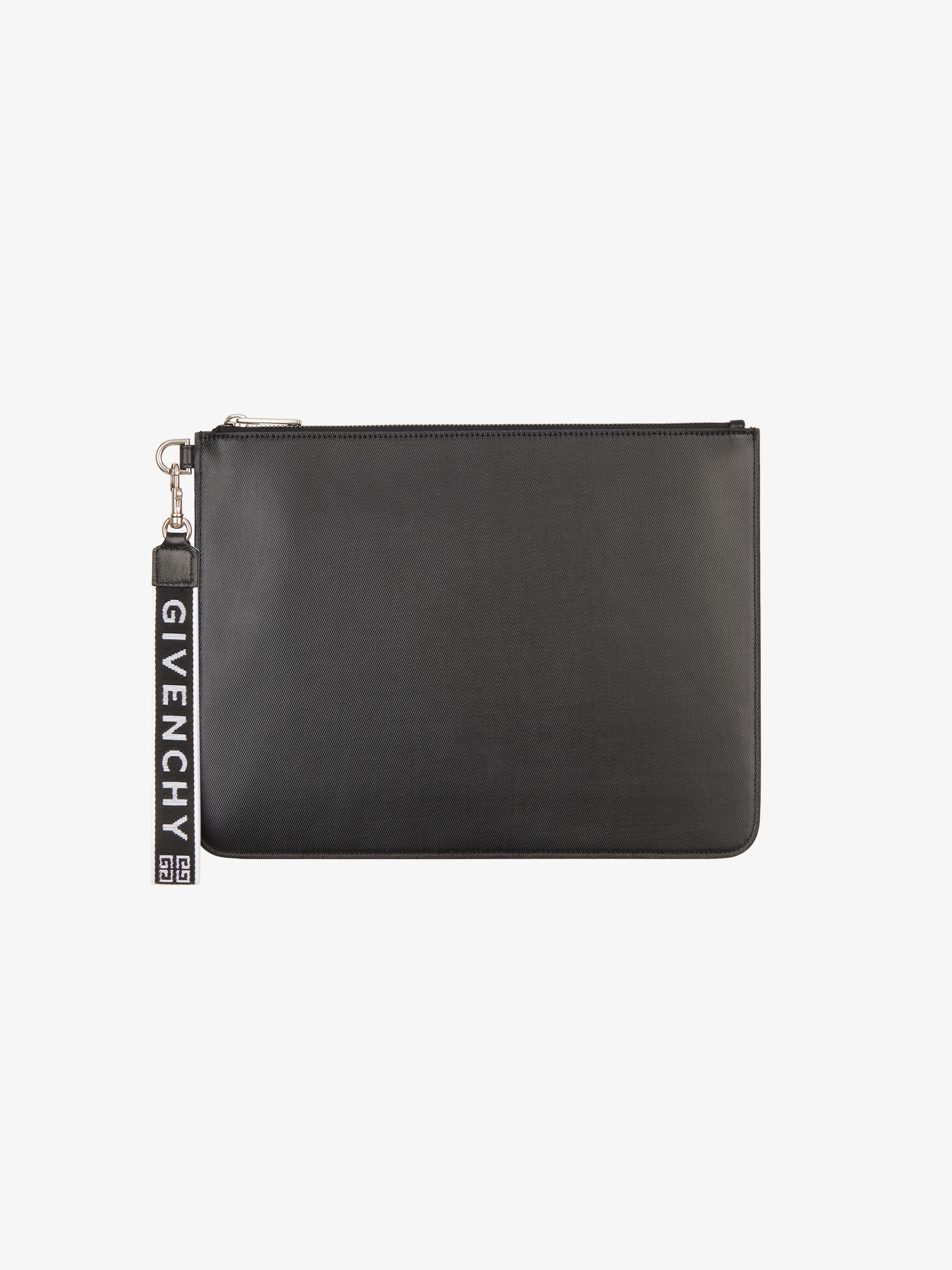 GIVENCHY 4G wrist strap large pouch in coated canvas