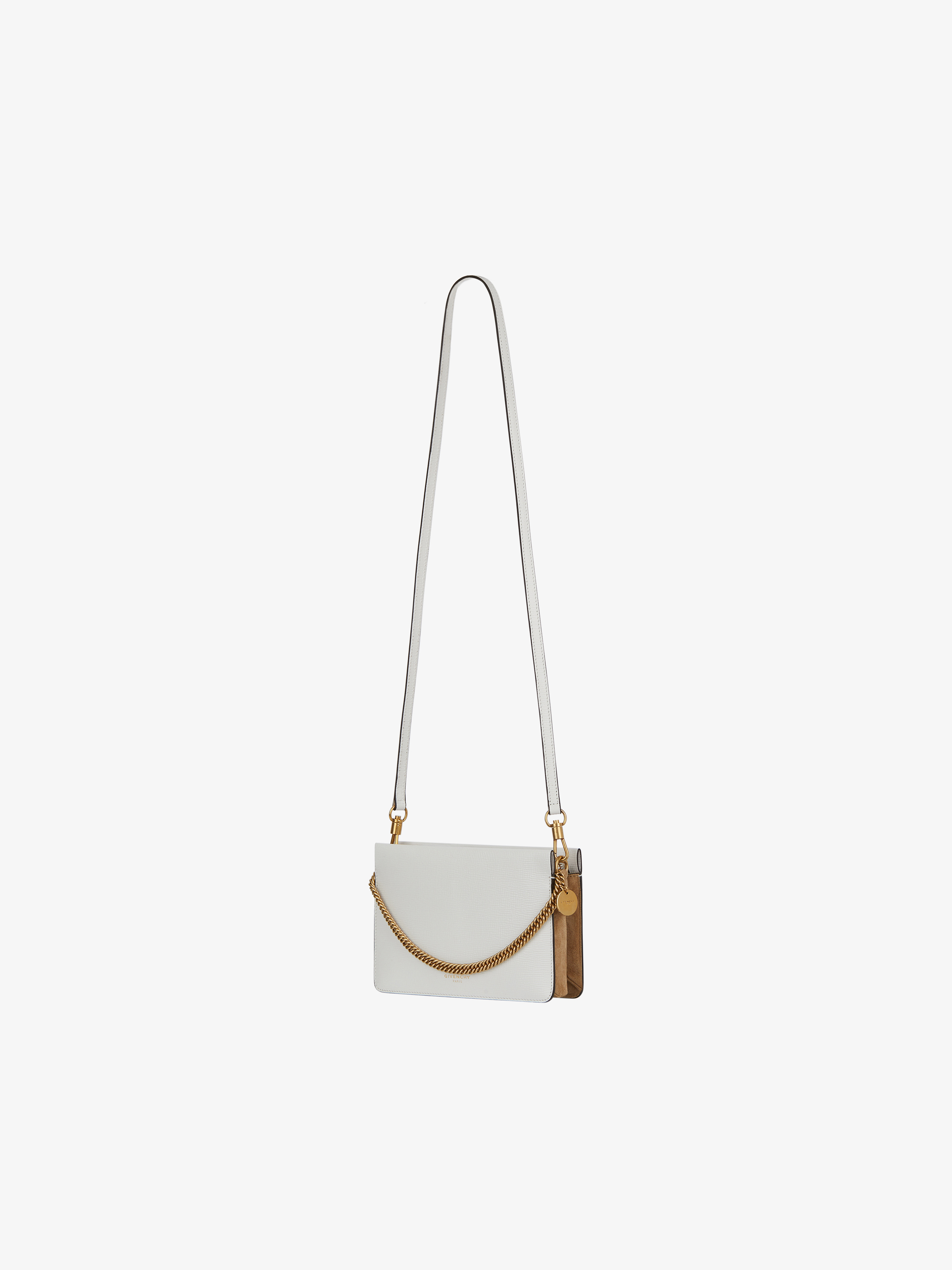 Two-toned Cross3 bag in leather and suede