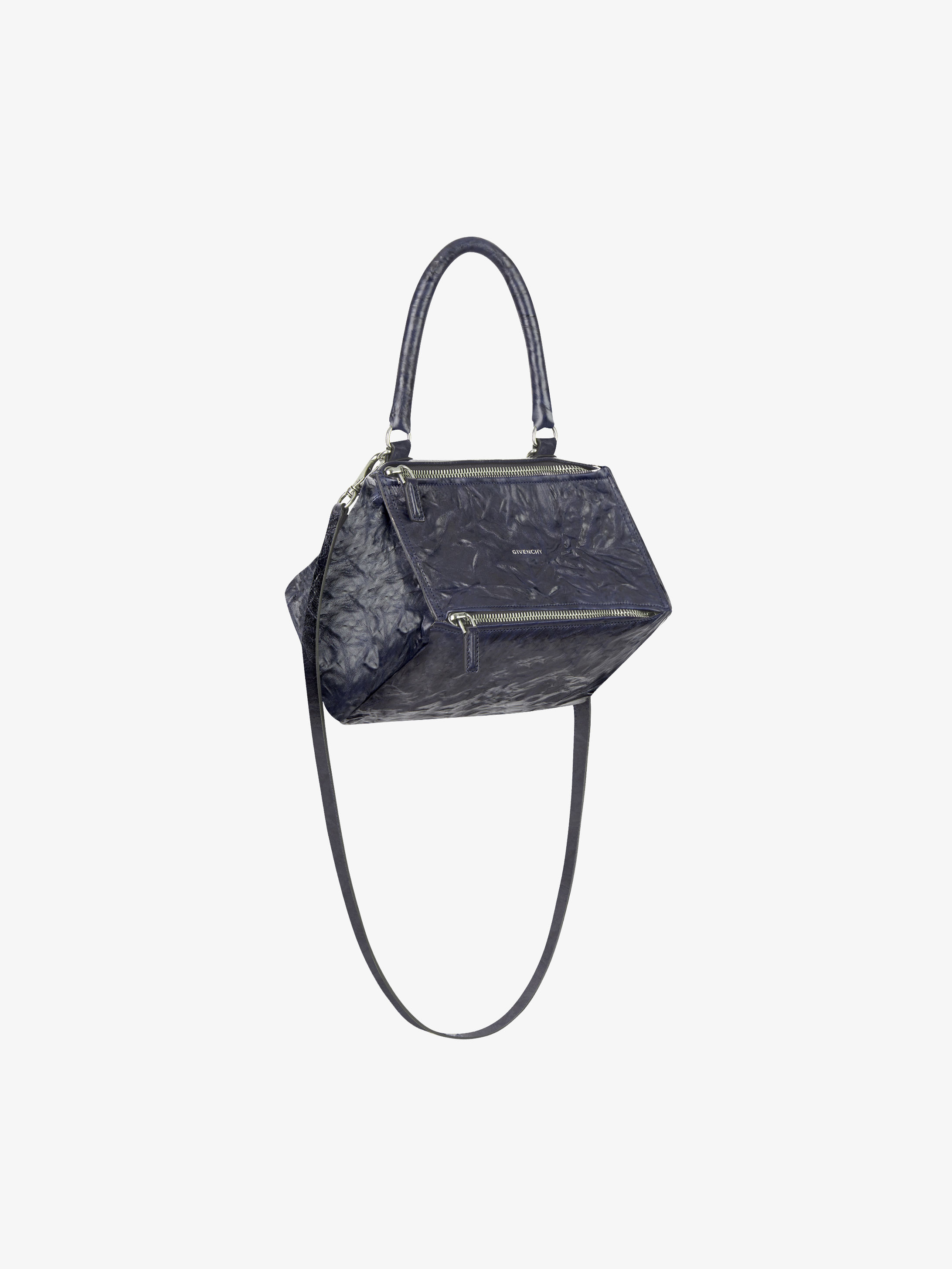 Medium Pandora bag in aged leather