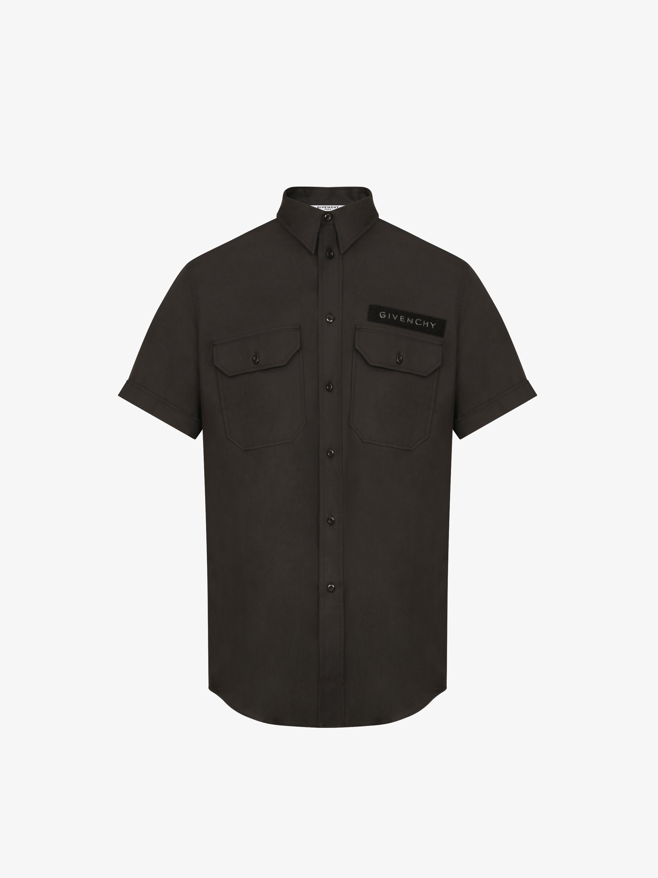 Shirt with GIVENCHY velcro patch