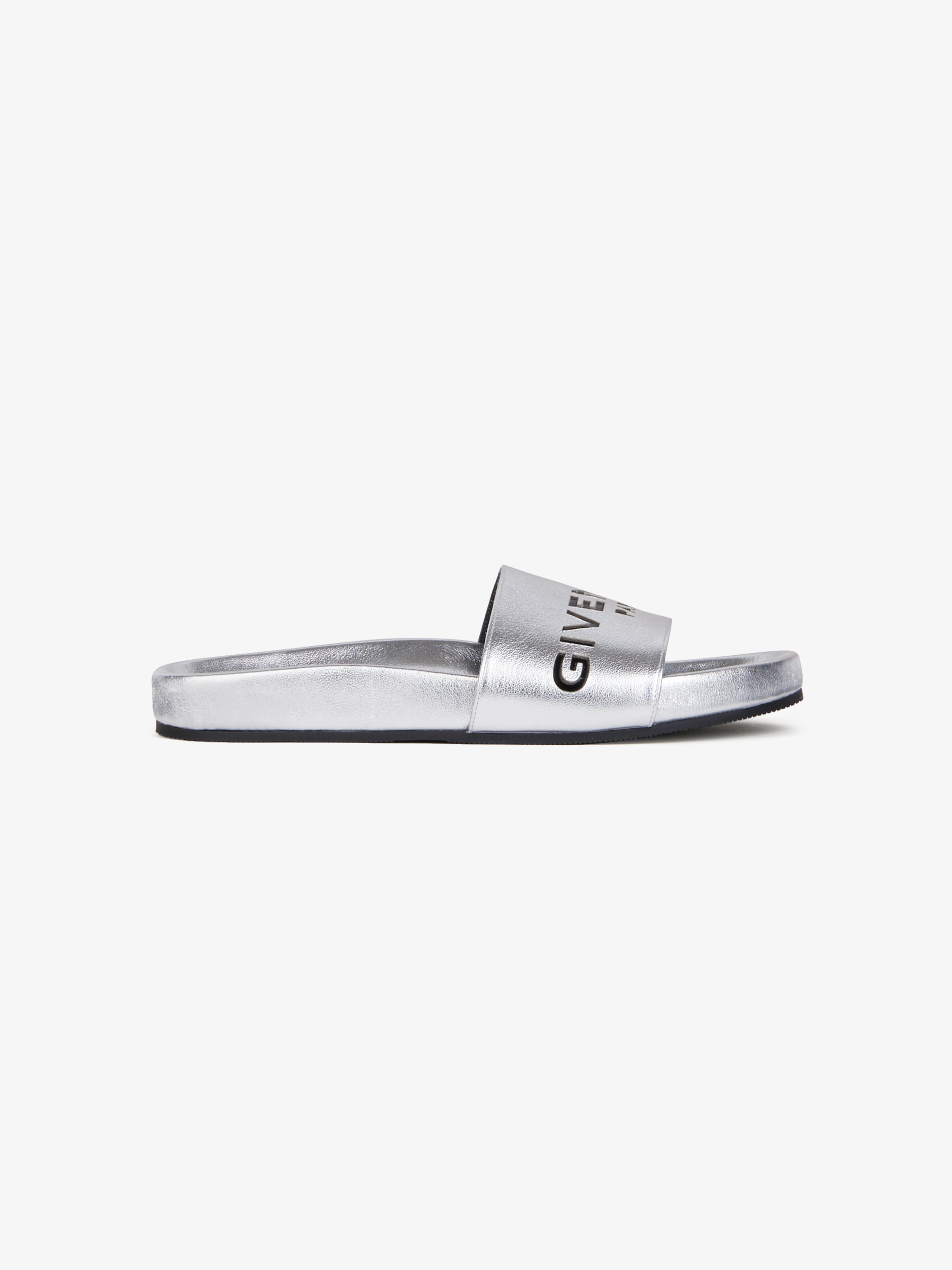 GIVENCHY PARIS sandals in metallized leather