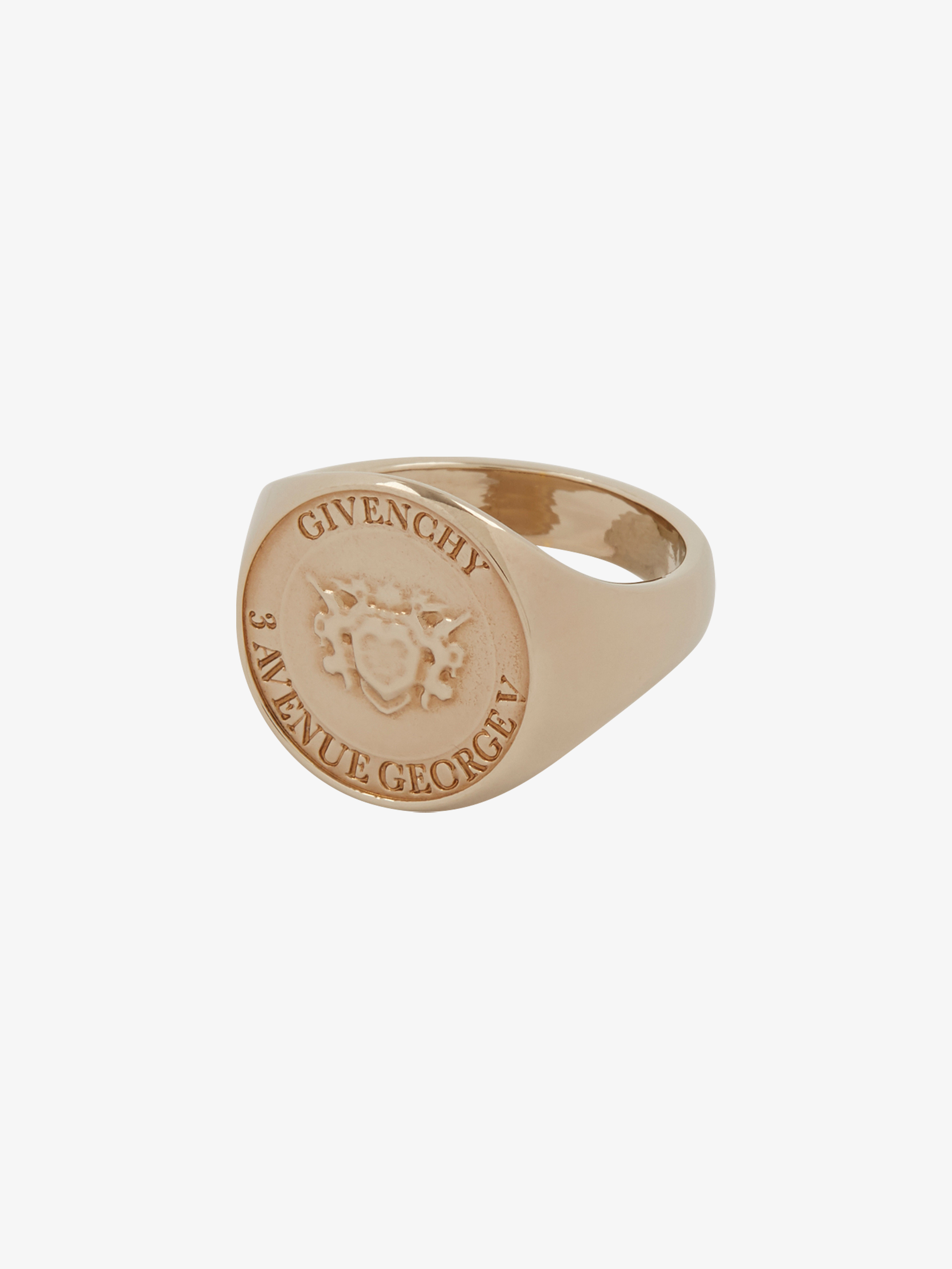 Medallion George V ring
