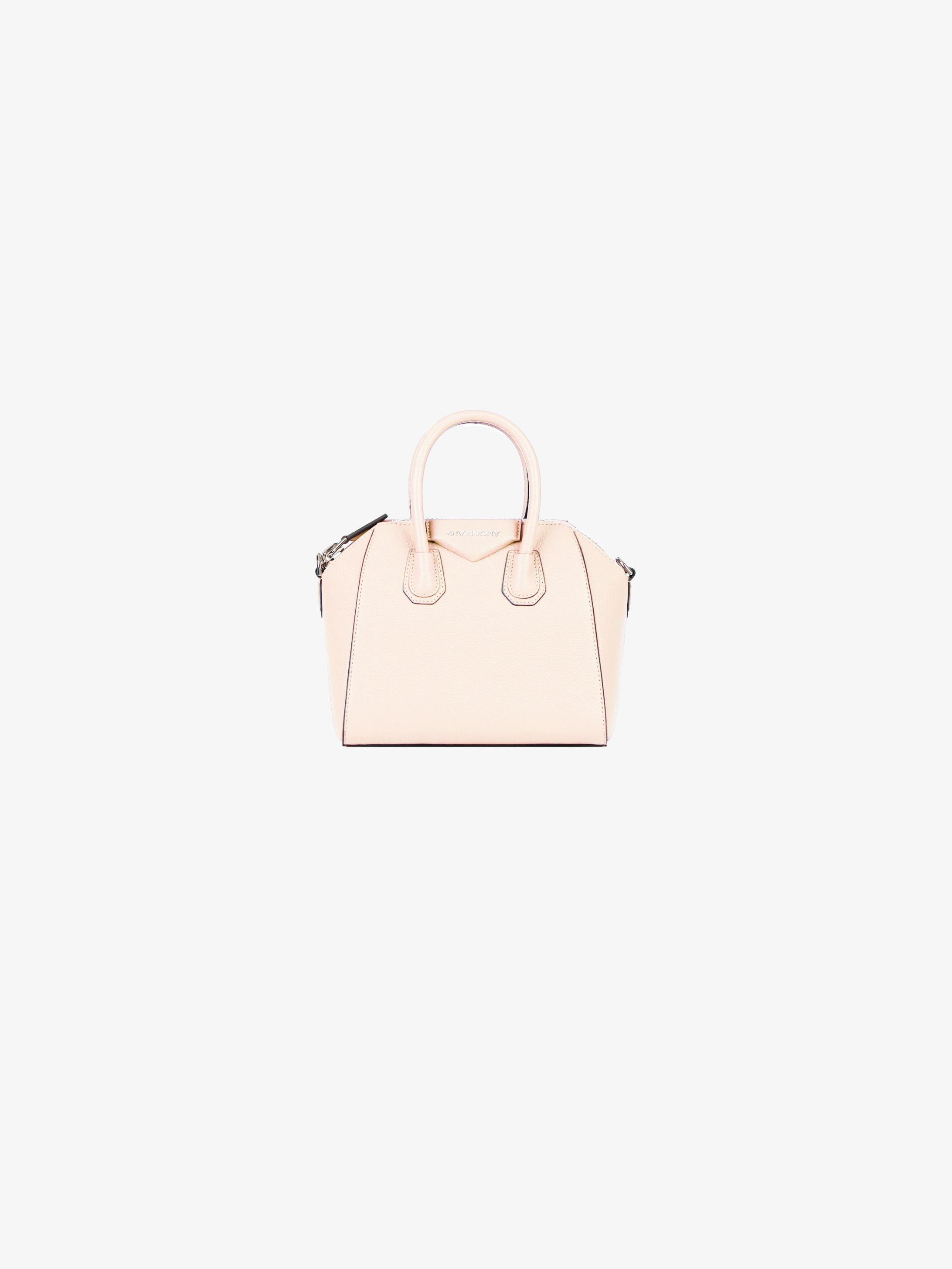 Mini Antigona bag in grained leather
