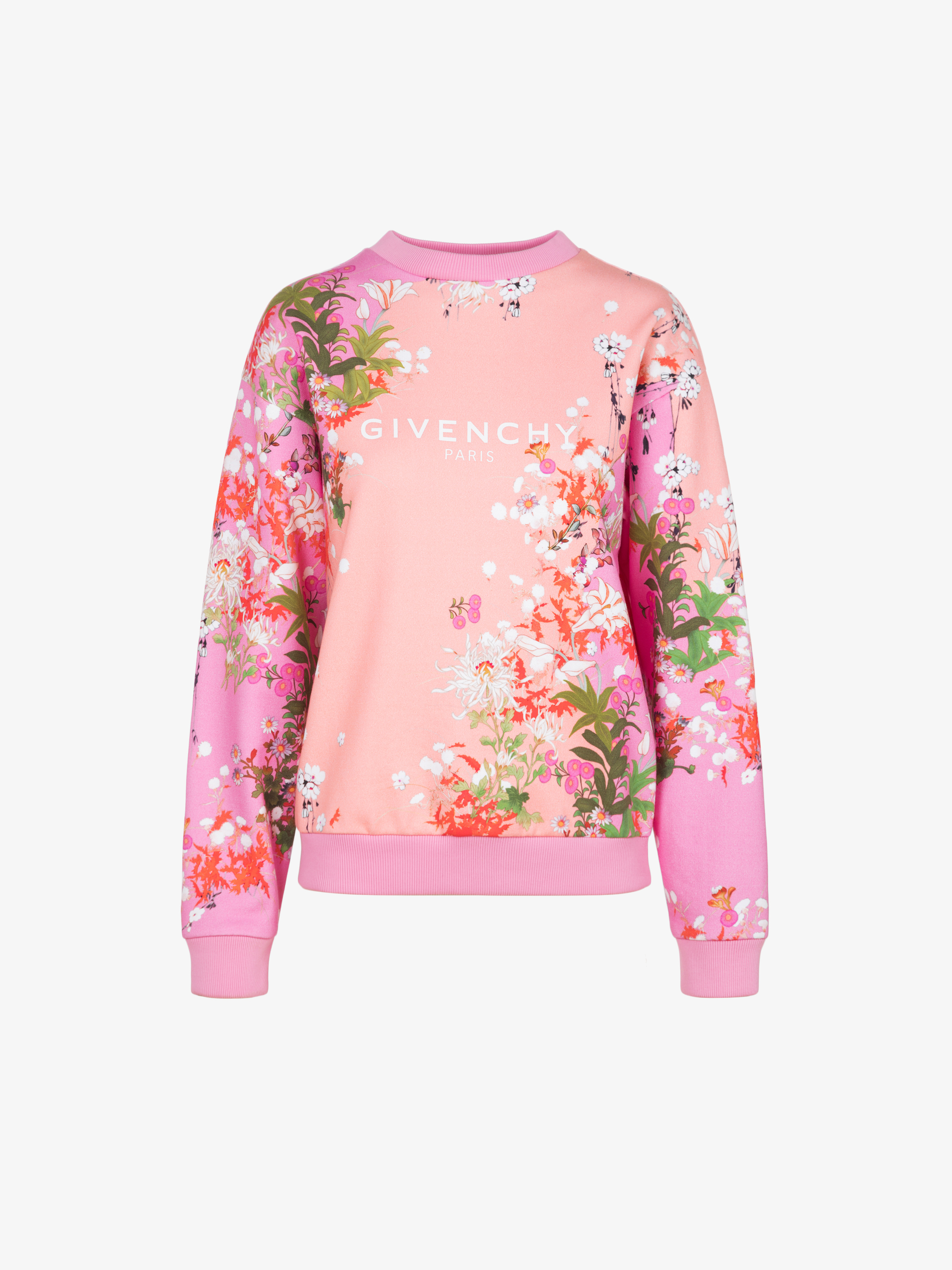 GIVENCHY PARIS floral printed sweatshirt