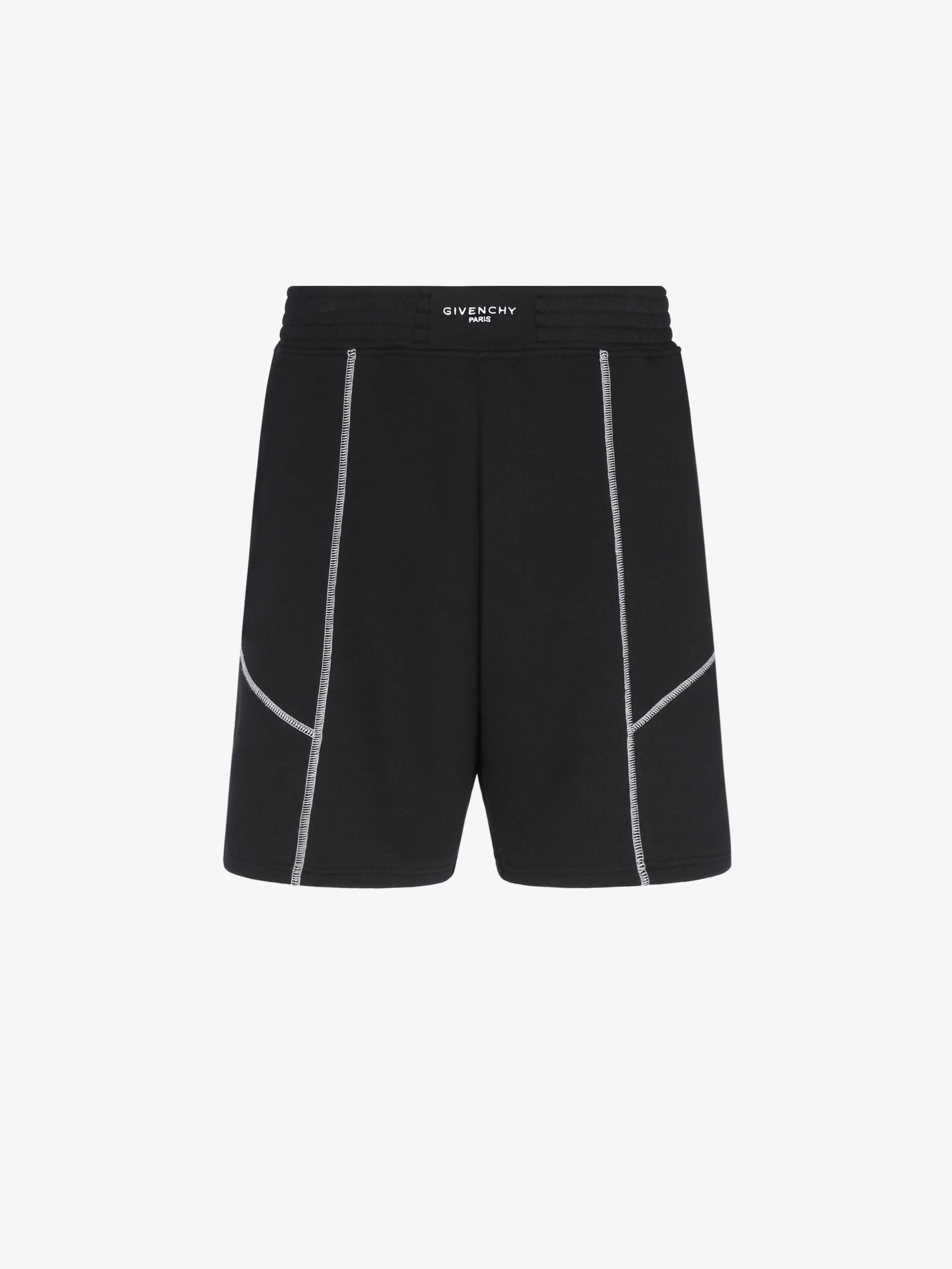 Contrasting stitching short pants