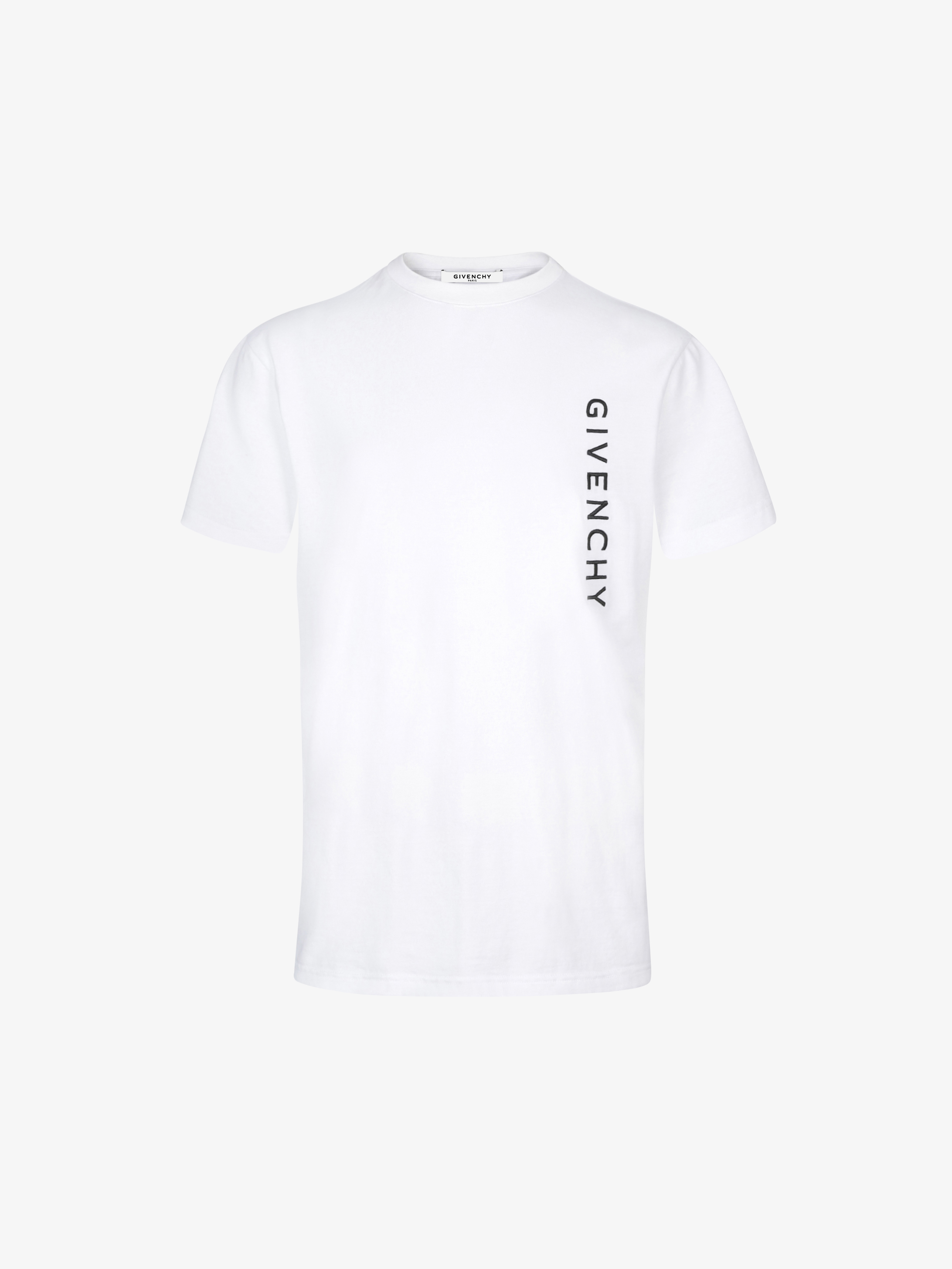 T-shirt slim fit con firma GIVENCHY