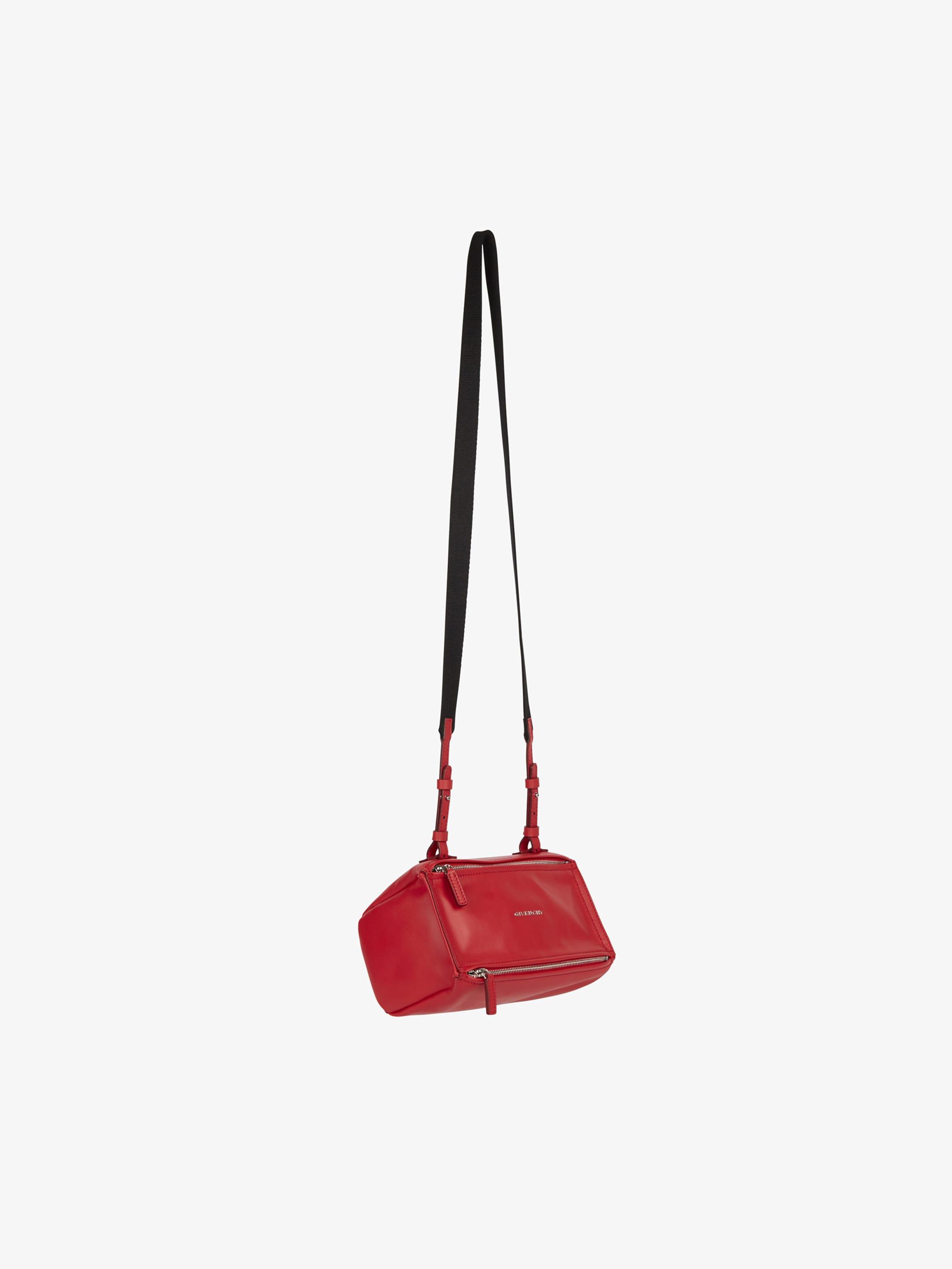 Mini Pandora bag with GIVENCHY PARIS strap