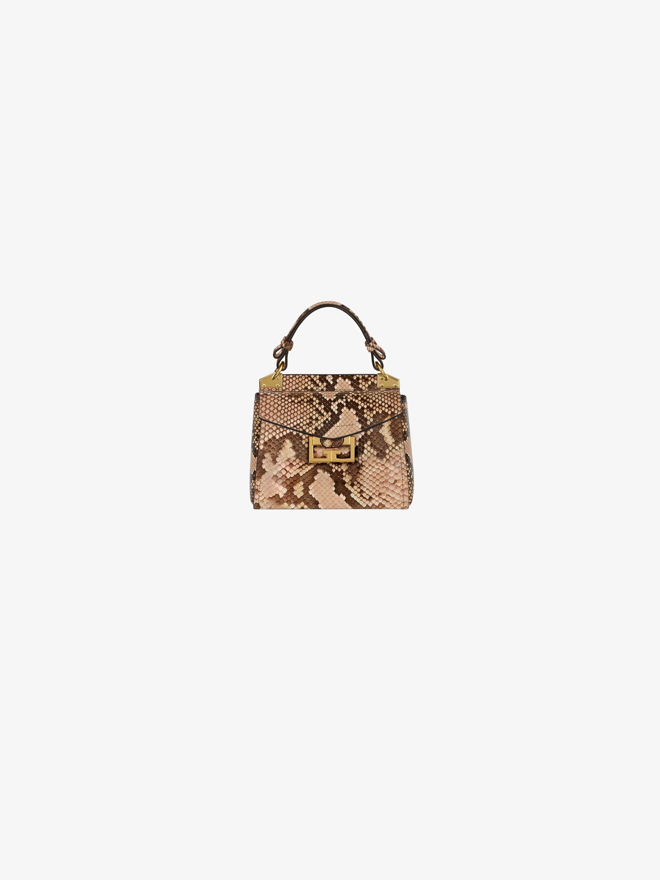 Mini Mystic bag in faded effect python skin