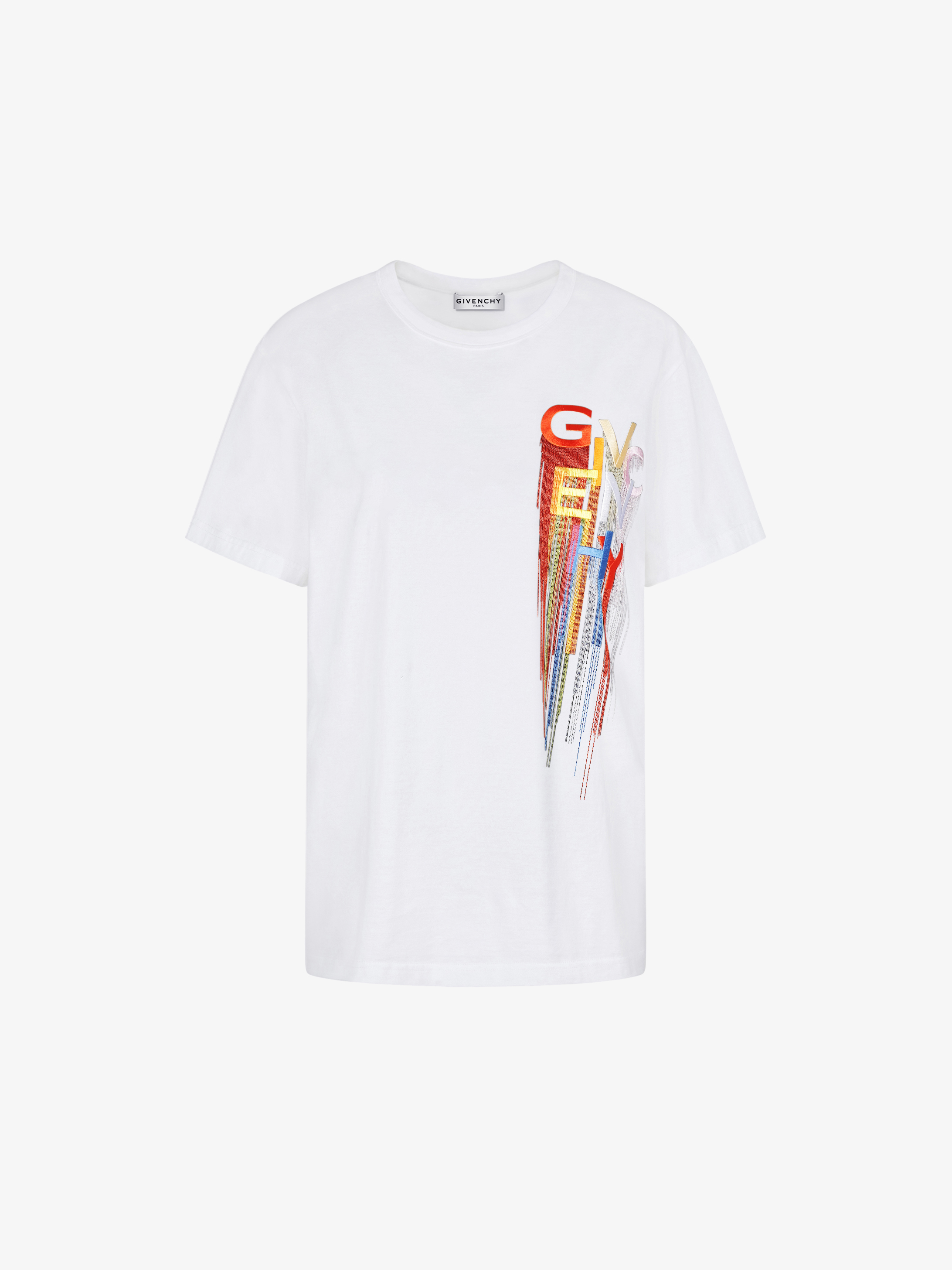 GIVENCHY multicolored embroidered t-shirt
