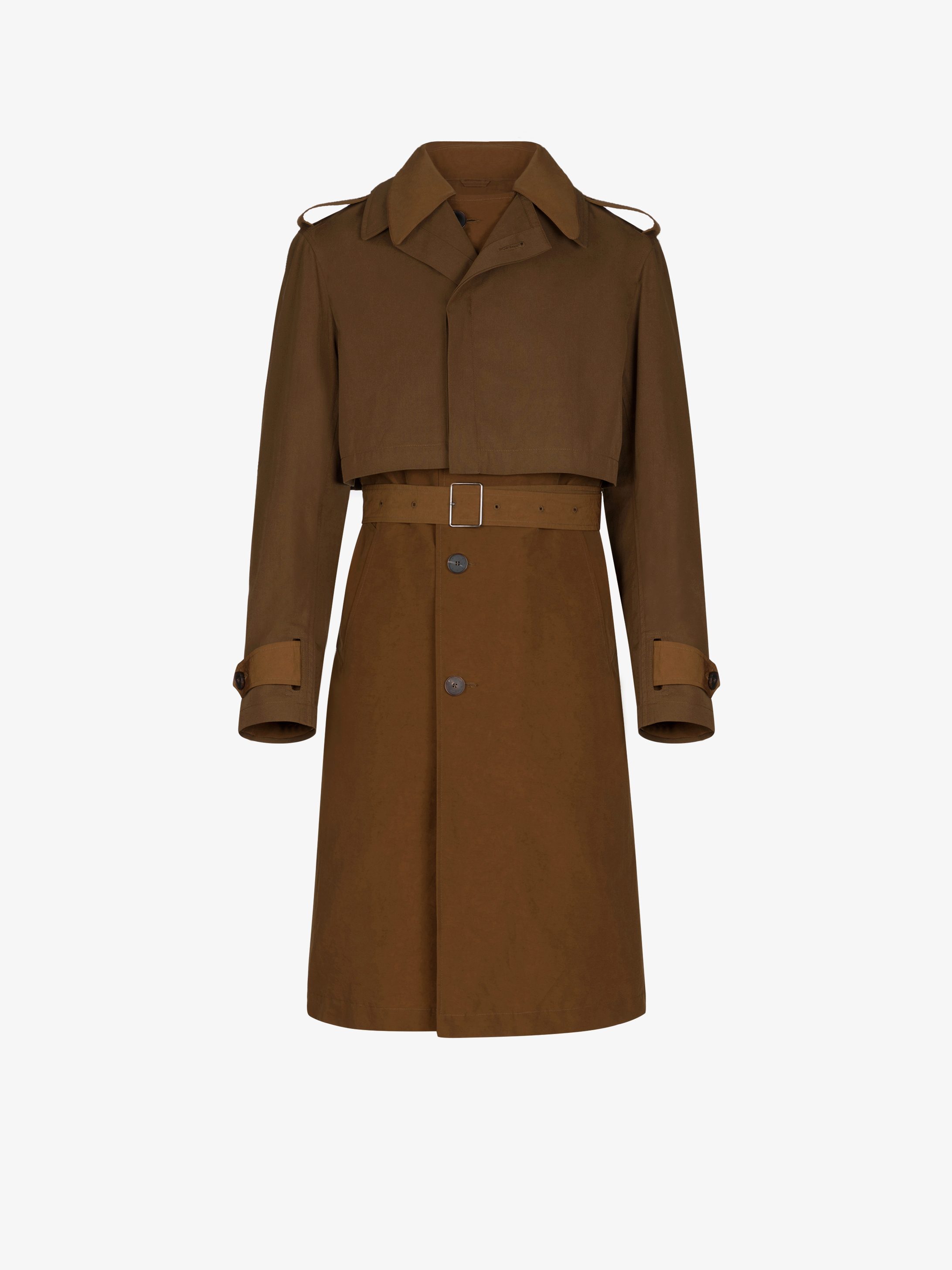 Trench with removable overcoat