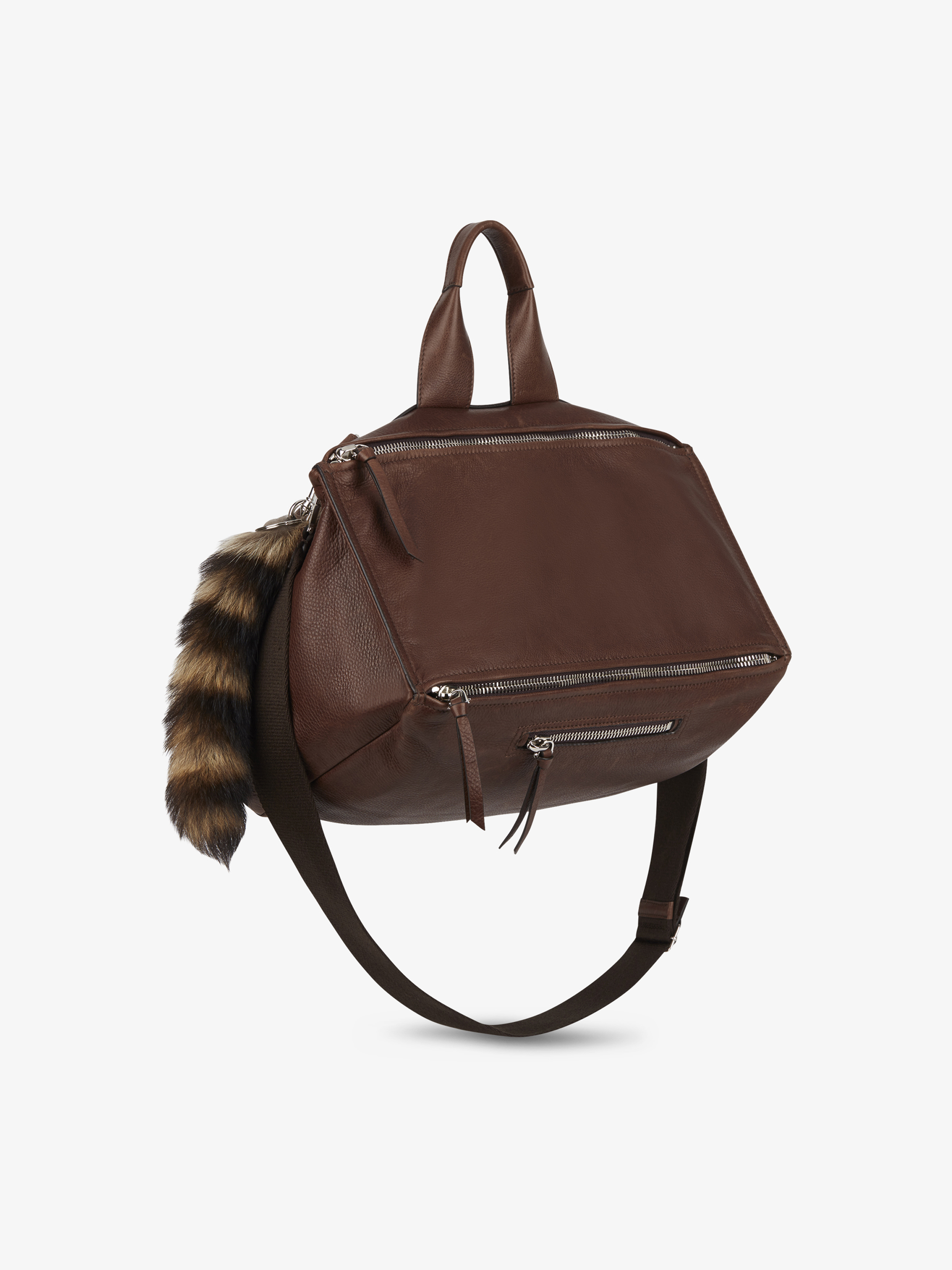 Pandora Messenger bag in leather with fur tail