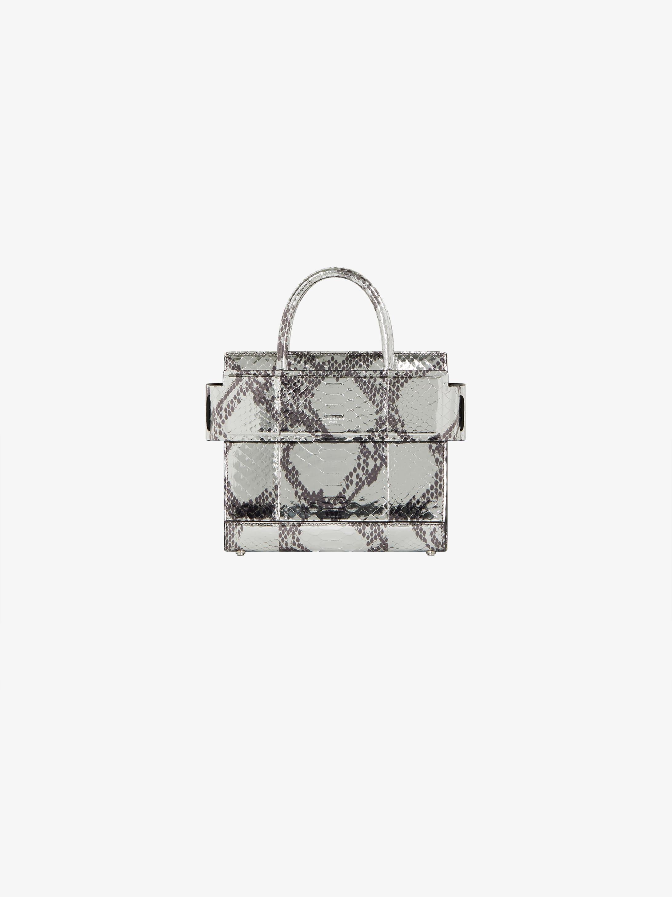 Mini Horizon bag in python
