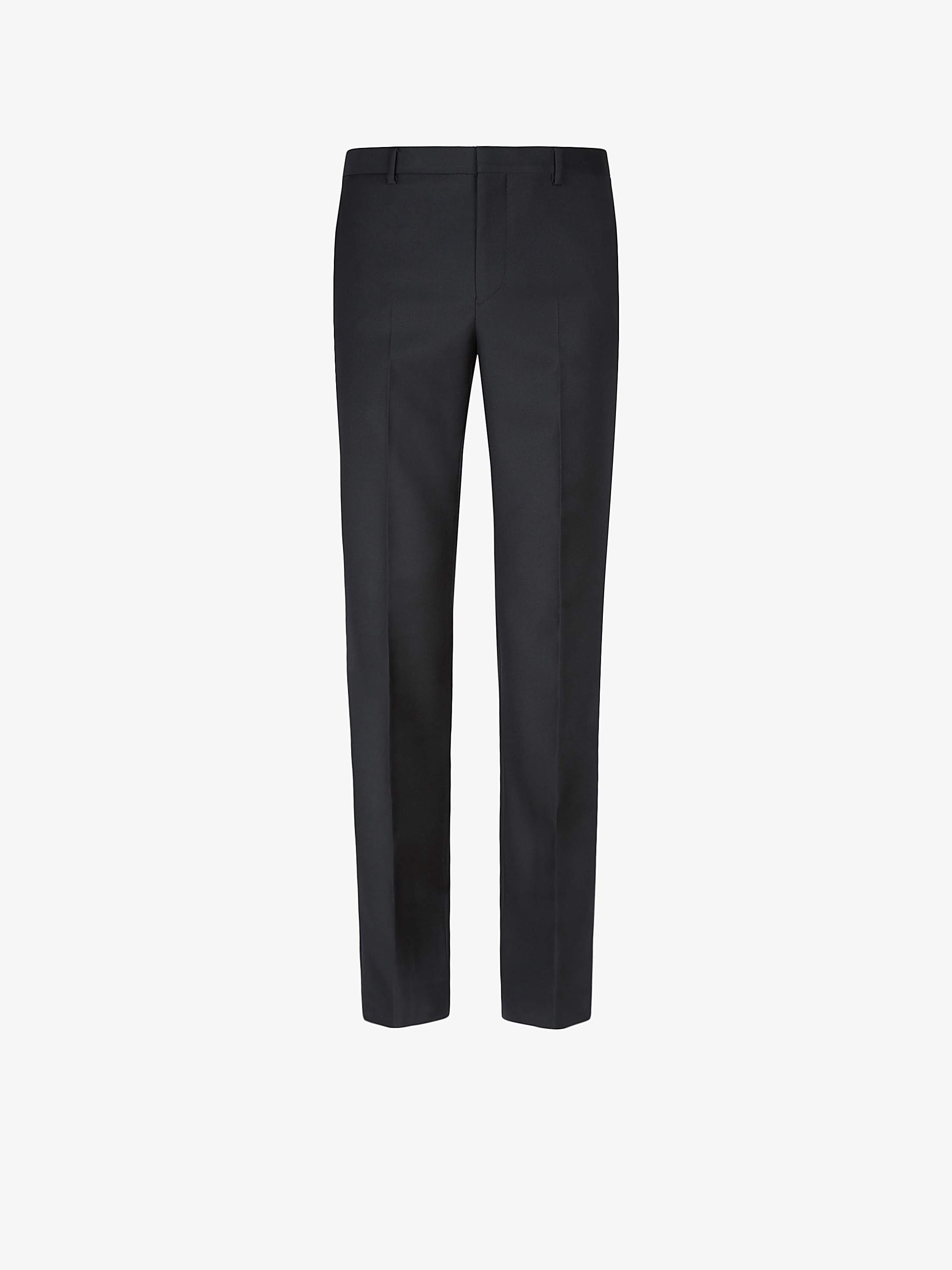 Pants in wool twill