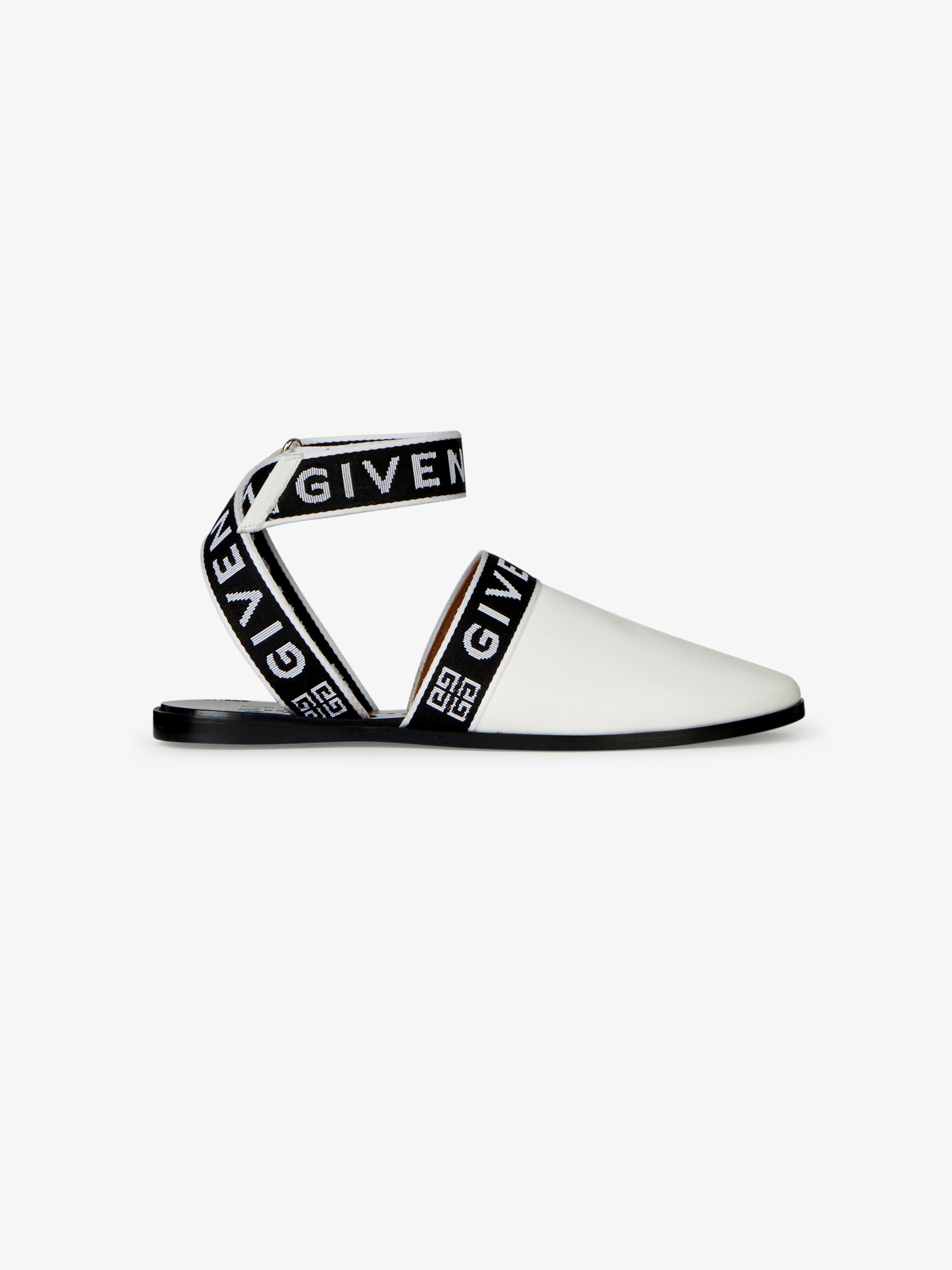 4G GIVENCHY sling back mules in leather