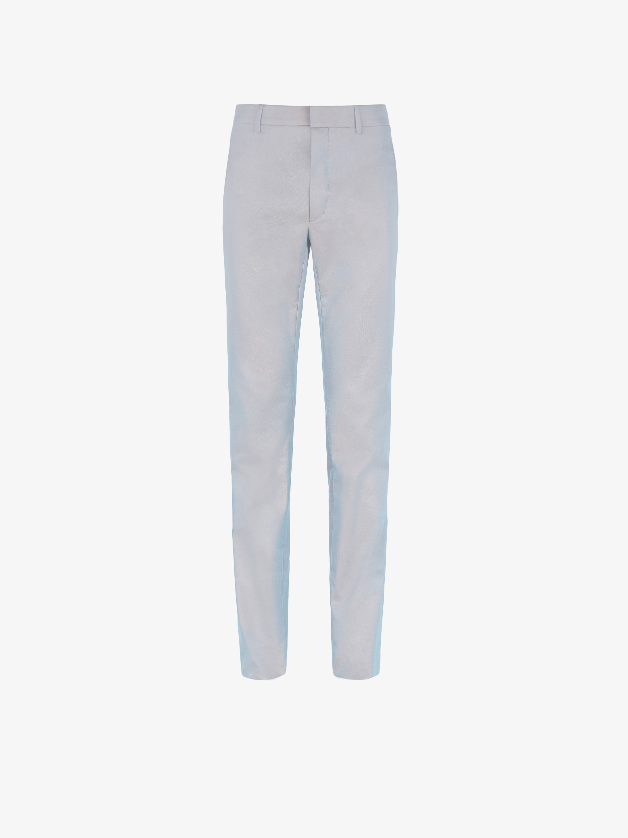 Pantalon skinny en coton technique irisé
