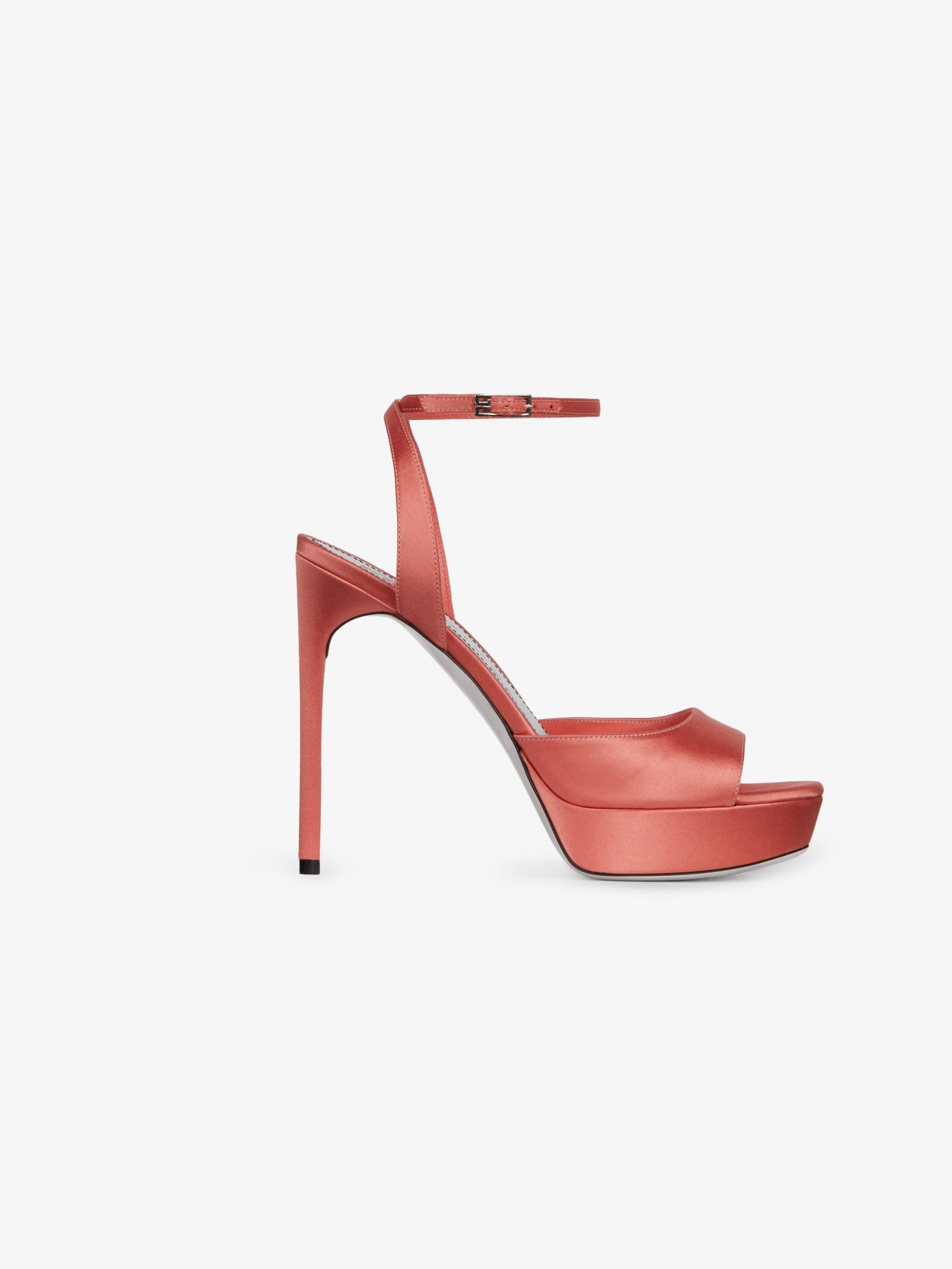 Platform sandals in satin