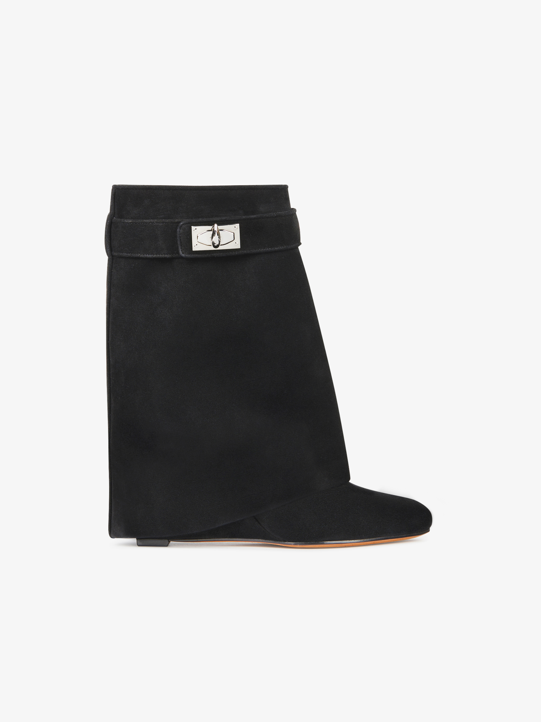 Shark Lock ankle boots in suede