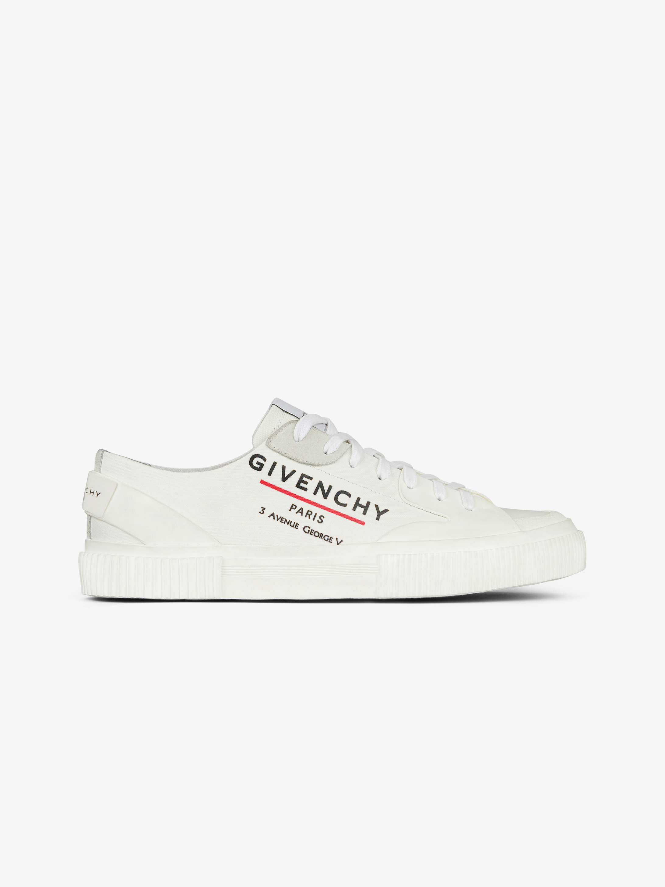 Tennis Light low sneakers in GIVENCHY LABEL canvas